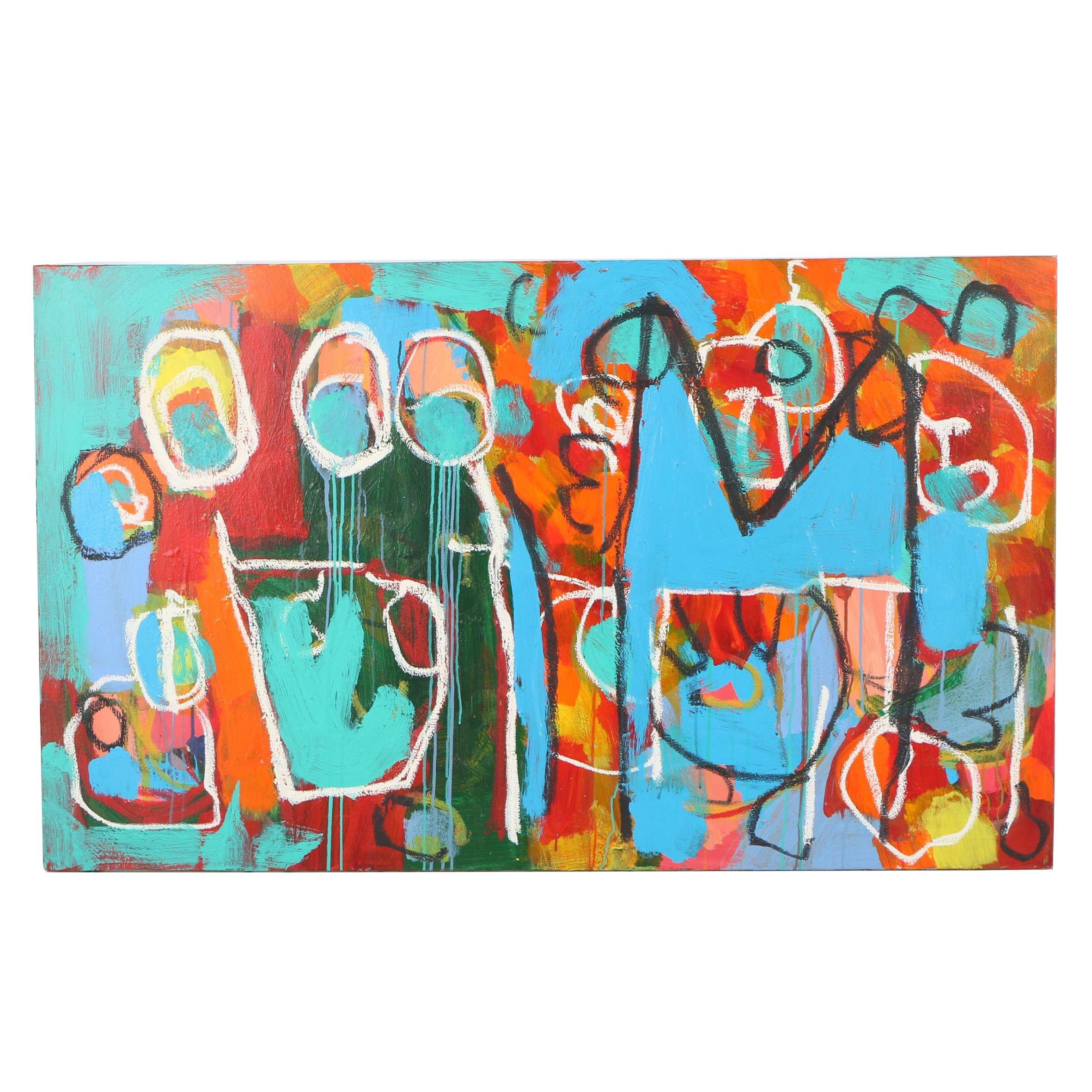 Michael Farsetta Abstract Acrylic Painting