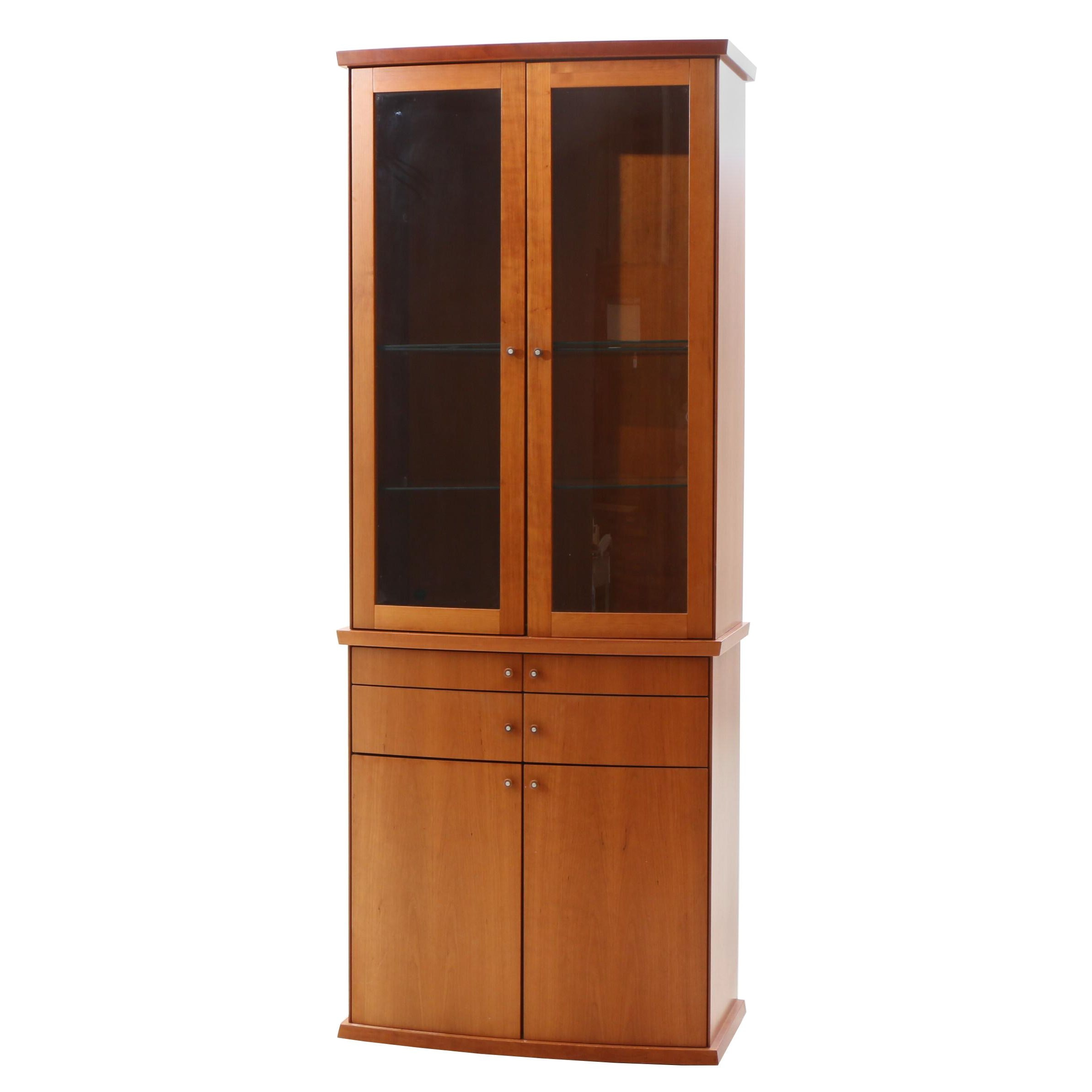 Skovby Danish Modern Maple China Cabinet