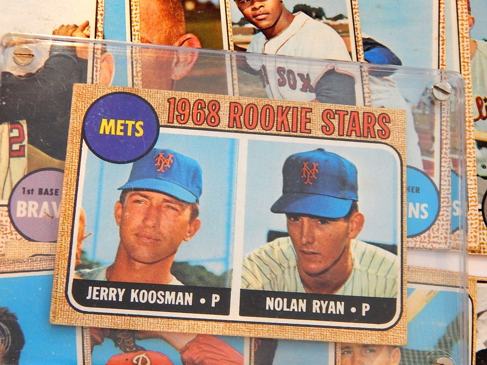 1968 Topps Nolan Ryan Rookie Card #177 with Over 100 1968 Topps Baseball Cards