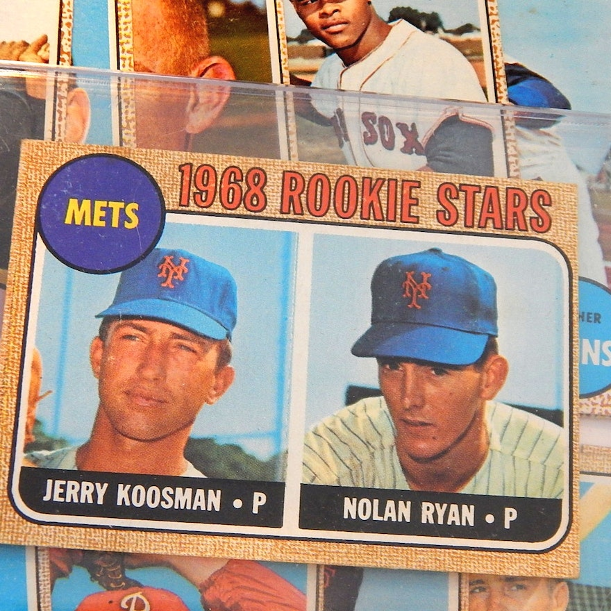 1968 Topps Nolan Ryan Rookie Card 177 With Over 100 1968 Topps Baseball Cards