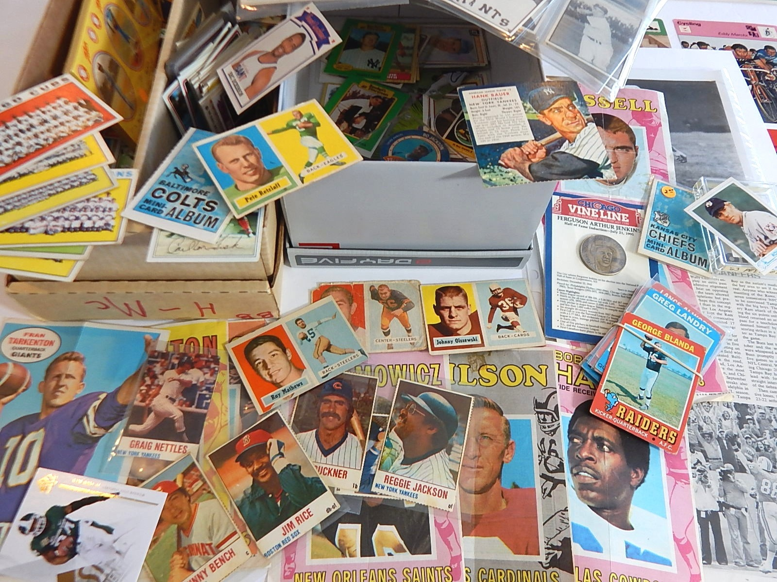 Miscellaneous Trading Card and Sports Collection from 1960s to 1990s