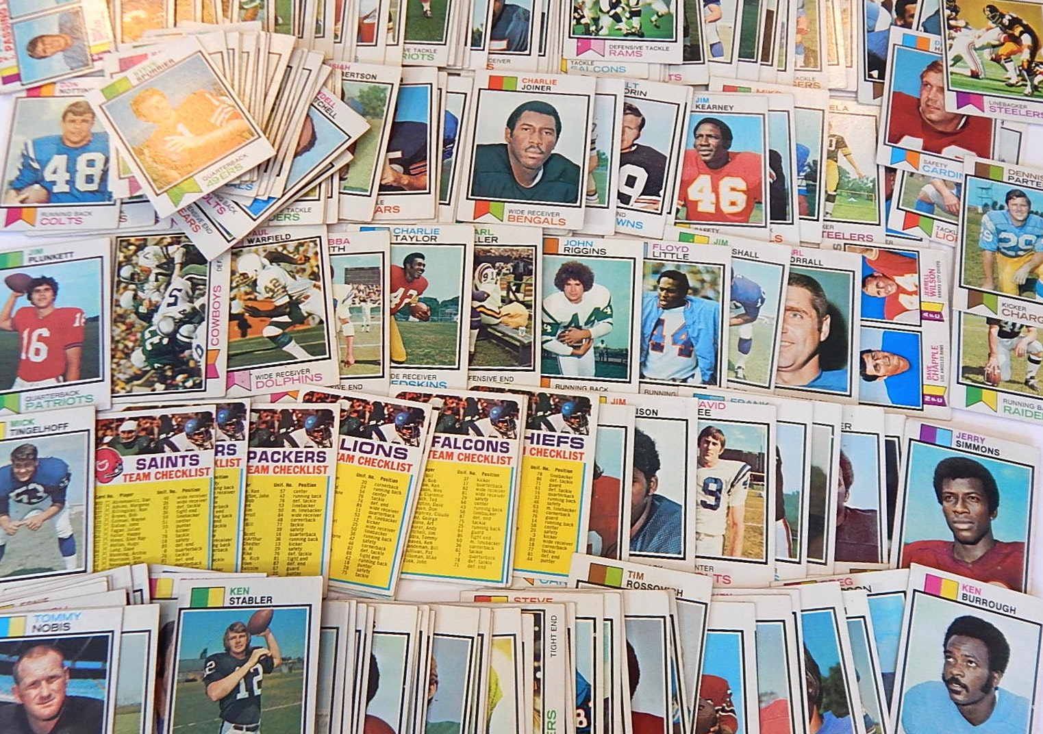 1973 Topps Football Card Collection with Ken Stabler Rookie