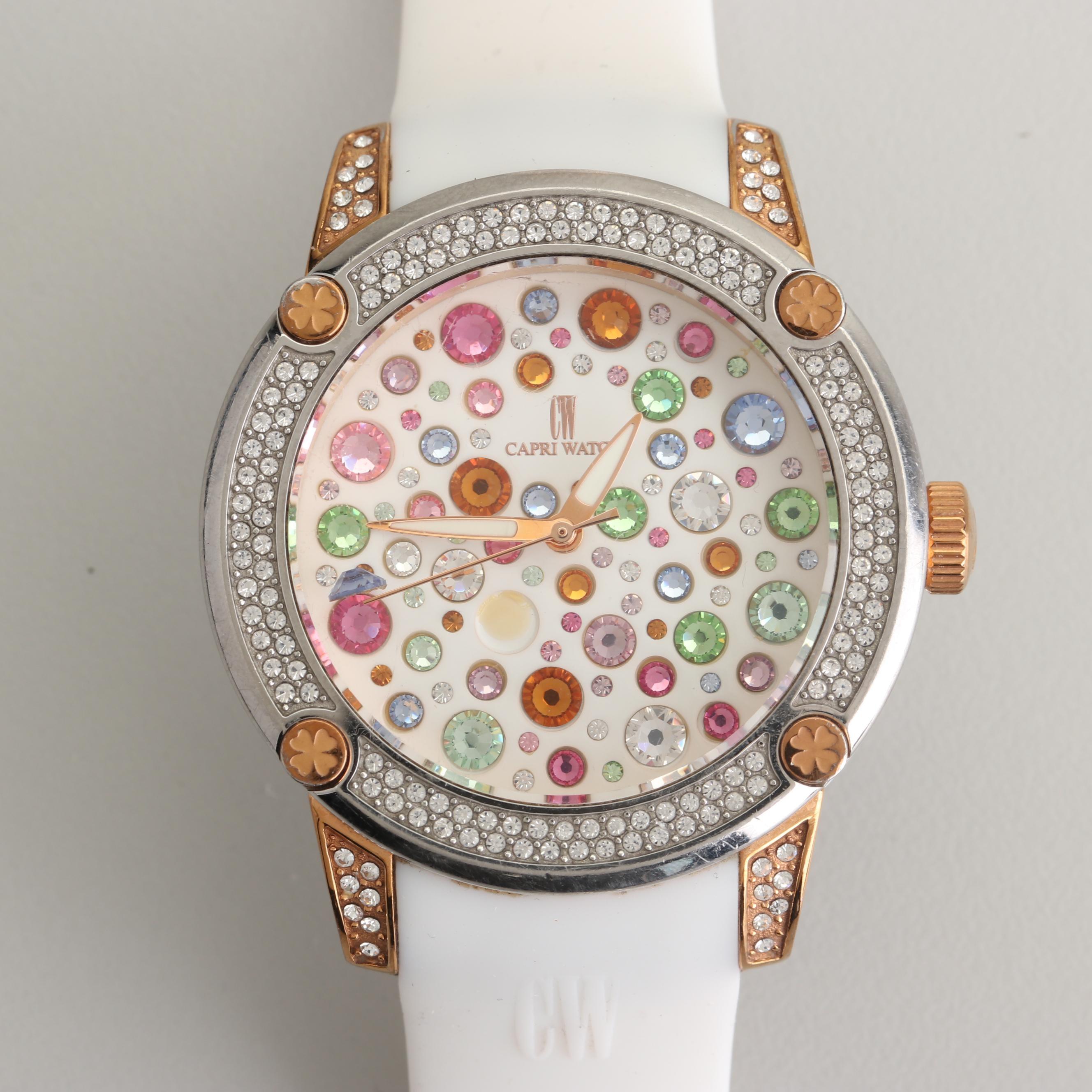 Capri by Silvio Staiano Swarovski Crystal Wristwatch