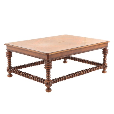 Banded Inlay and Burl Veneer Coffee Table