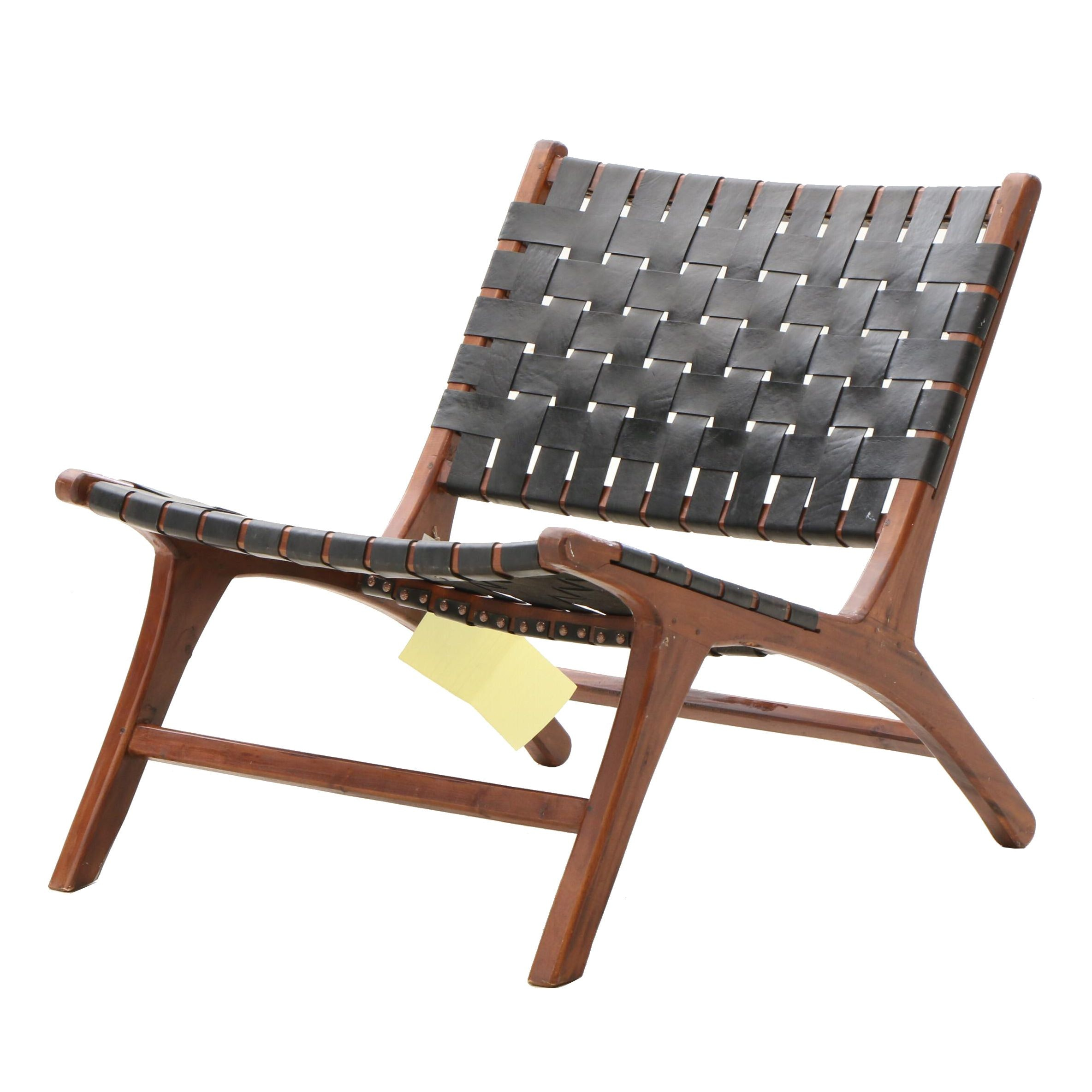 Hand Crafted Indonesian Woven Synthetic Low Seat Side Chair