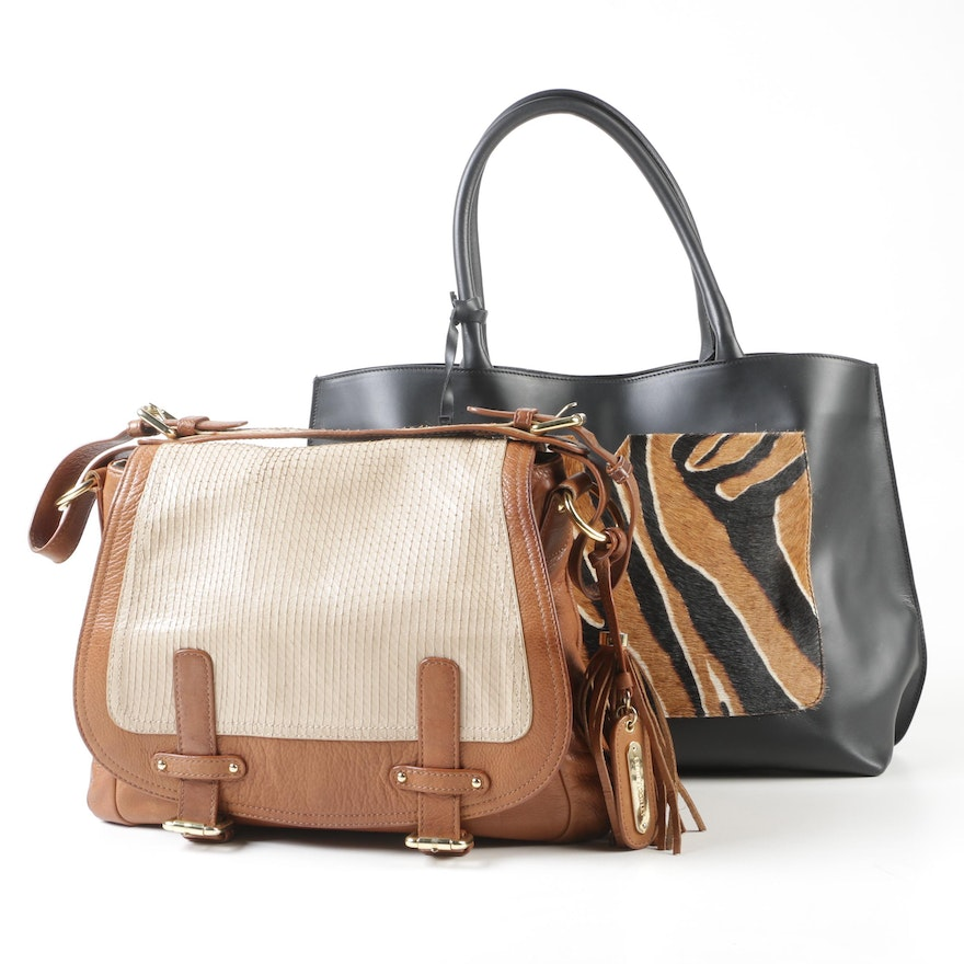 30fb16e597 Leather Shoulder Bags with Tassel Accents Including Varriale and Cynthia  Rowley   EBTH
