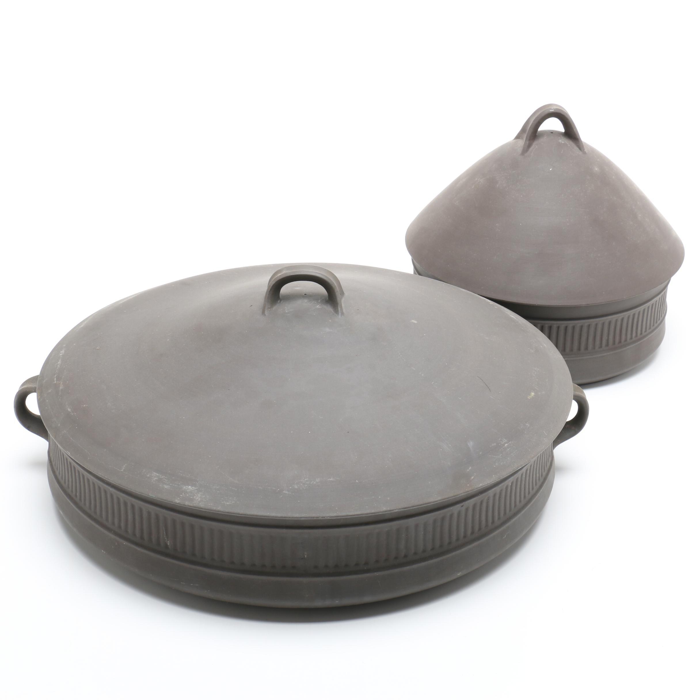 Vintage Dansk Denmark Flamestone Fluted and Round LIdded Casserole Dishes