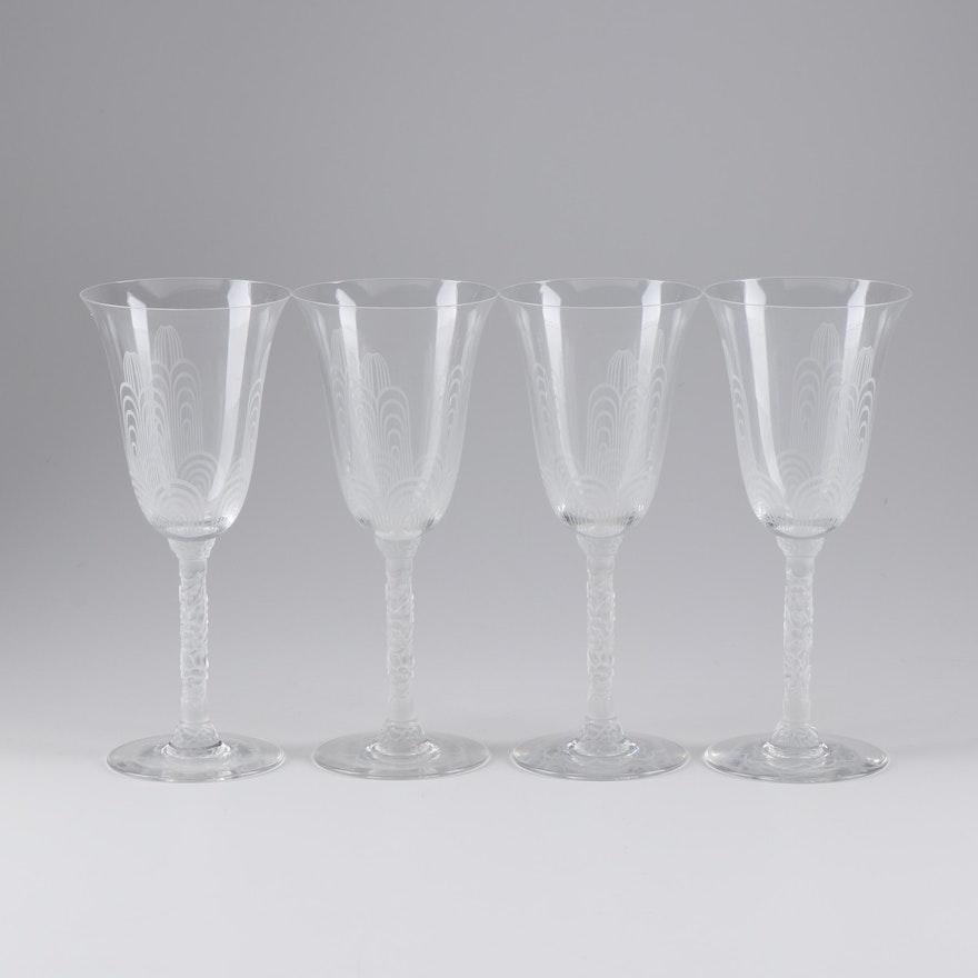 Baccarat Art Deco Style Wine Glasses Ebth