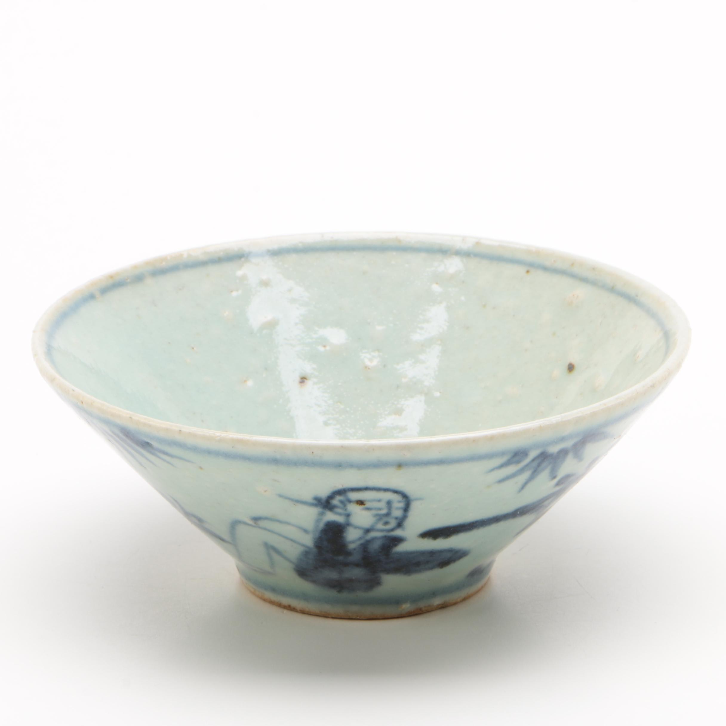 Zhangzhou Ware Hand Decorated Ceramic Bowl, Ming Dynasty