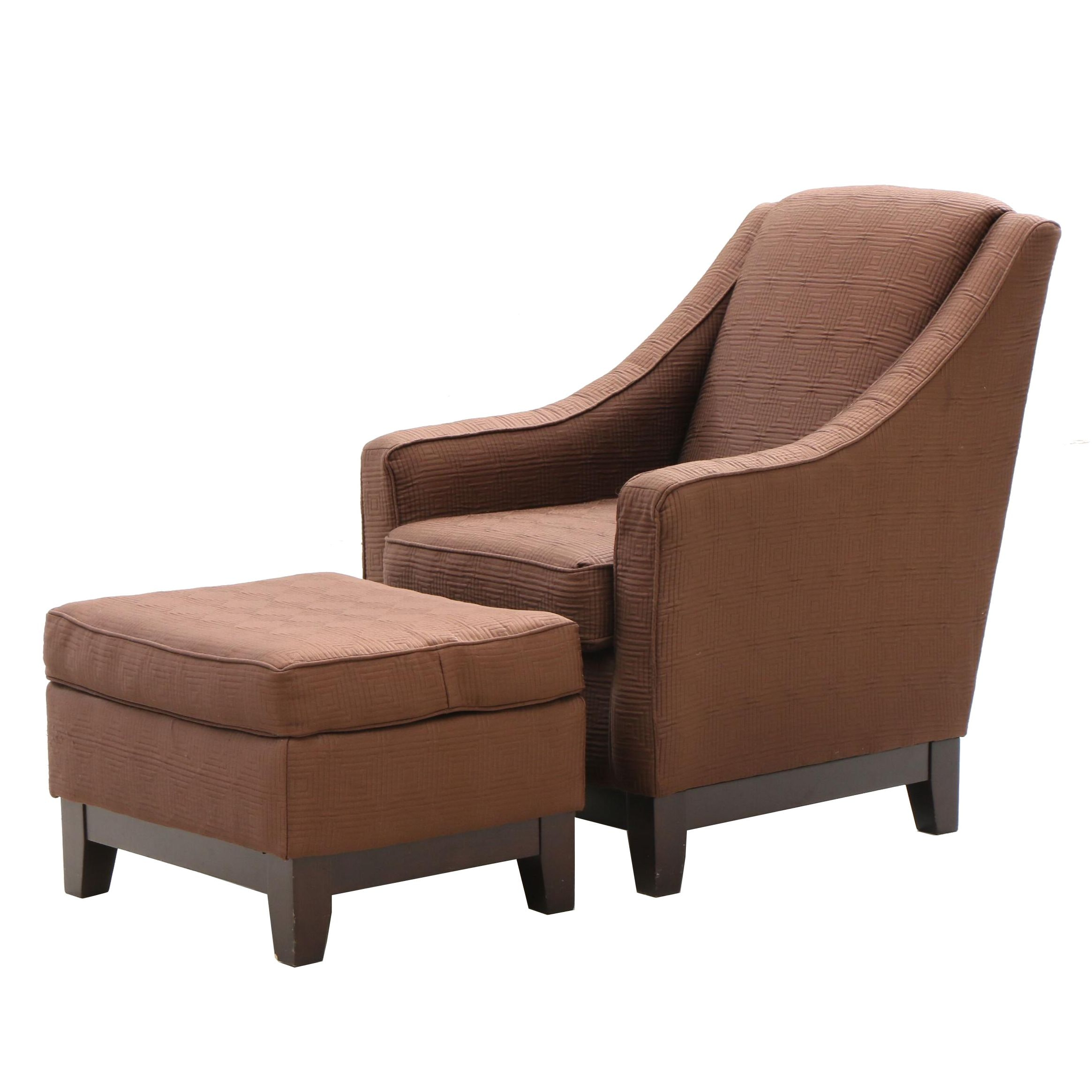 Modernist Arm Chair and Ottoman by Best Chairs, 2010's