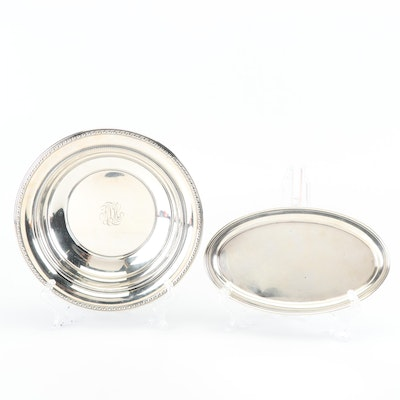 Gorham Sterling Silver Vegetable Bowl and Dish, Early 20th Century