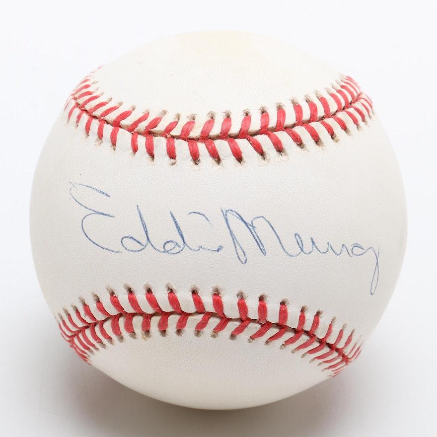 07b43ca0dc2 Eddie Murray Signed American League Baseball Visual COA   EBTH