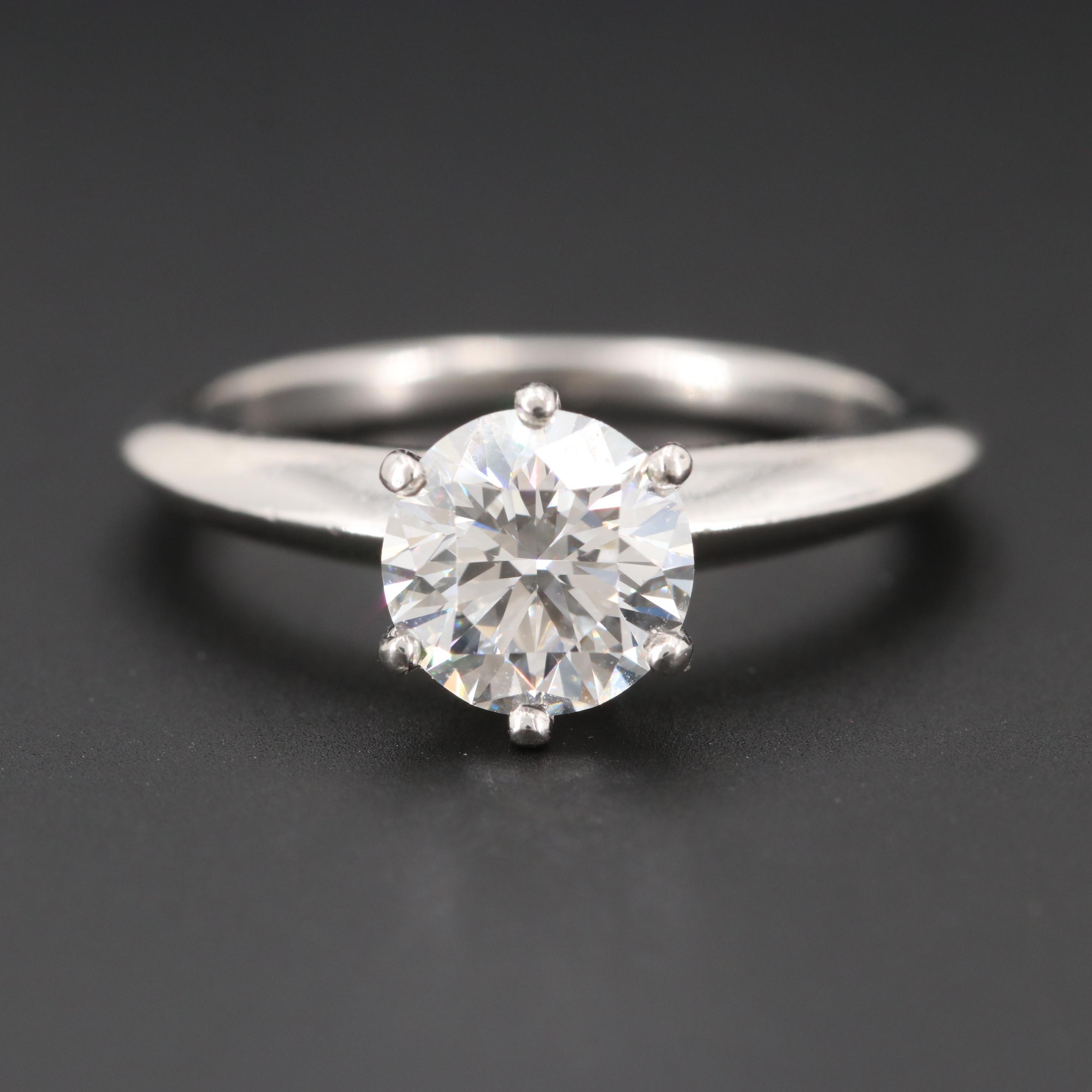 Tiffany & Co. Platinum 1.26 CT Diamond Solitaire Ring