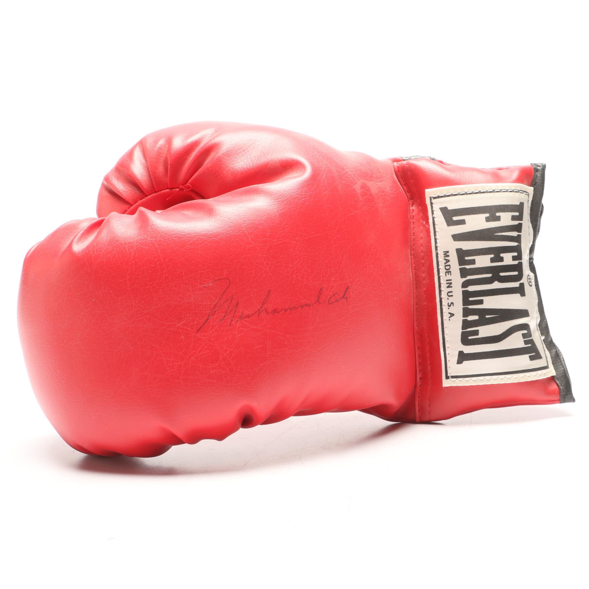 Muhammad Ali Signed Glove  Visual COA