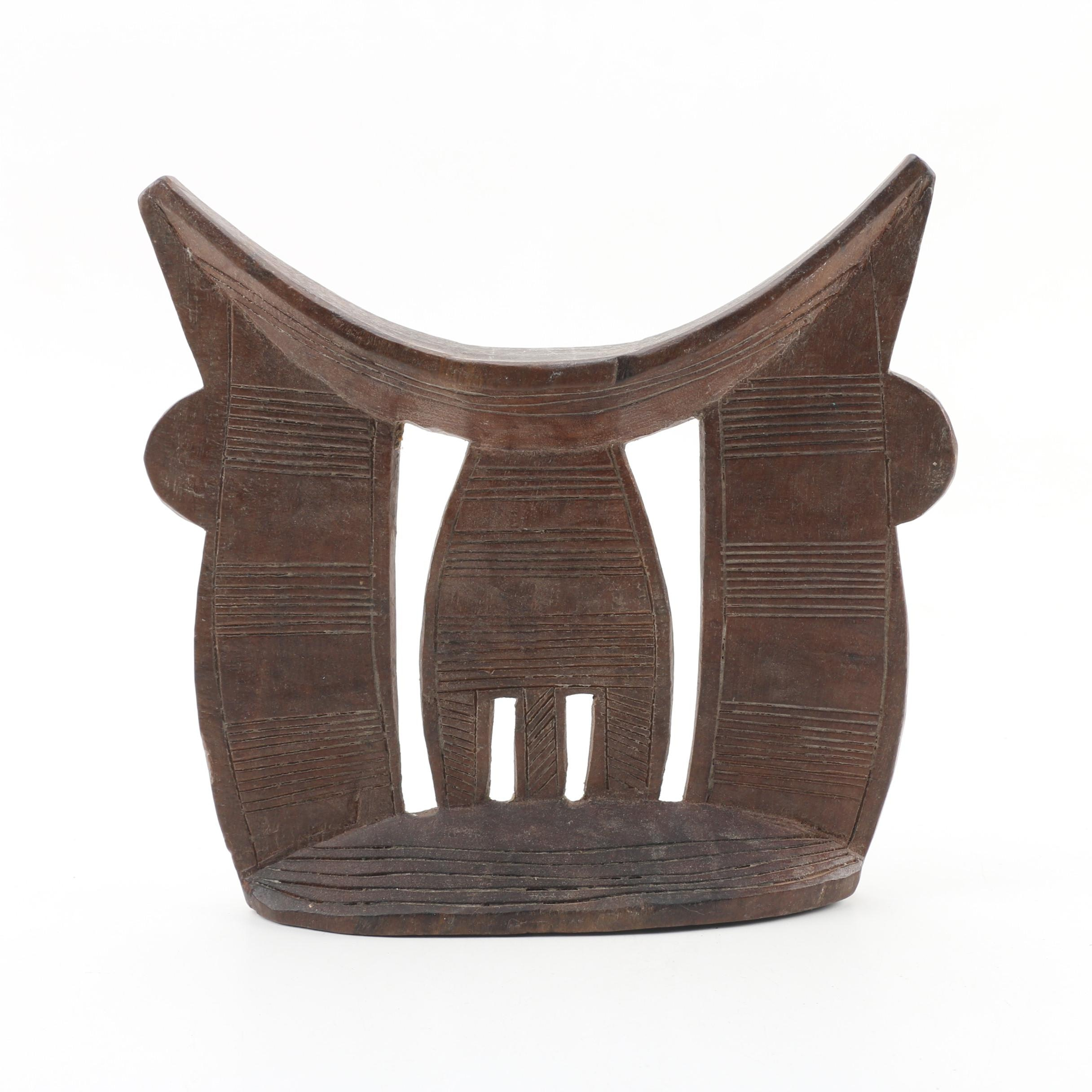 Ethiopian Carved Wood Headrest