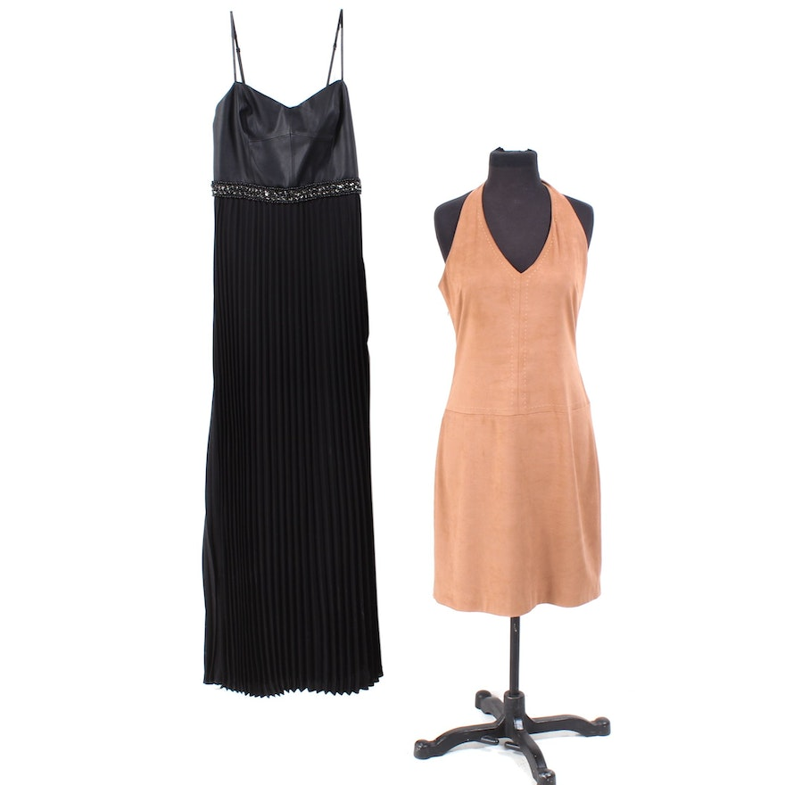 2357a039225d Women's Laundry by Shelli Segal Evening and BCBGMAXAZRIA Halter Dresses ...