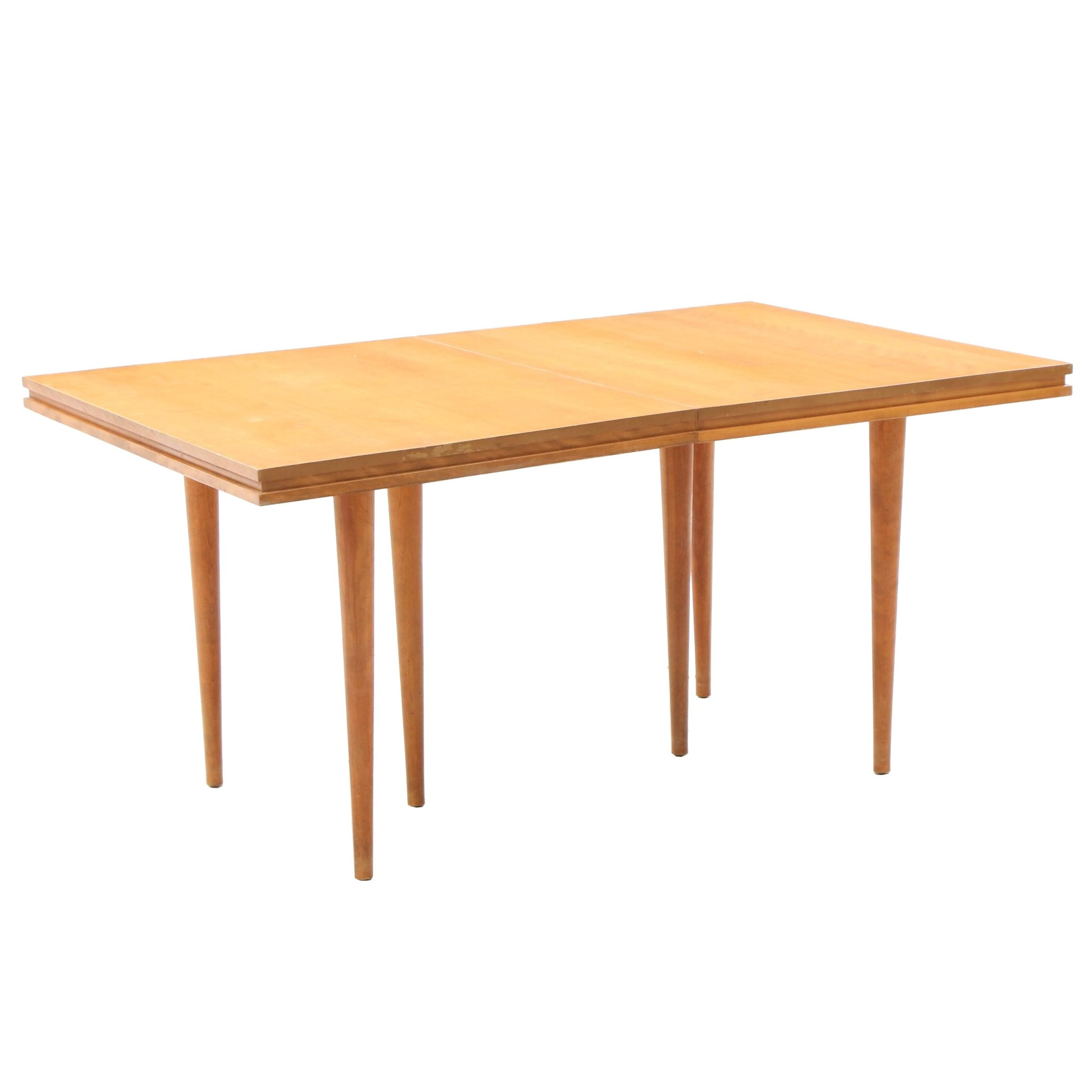 Mid Century Modern Maple Dining Table by Conant Ball