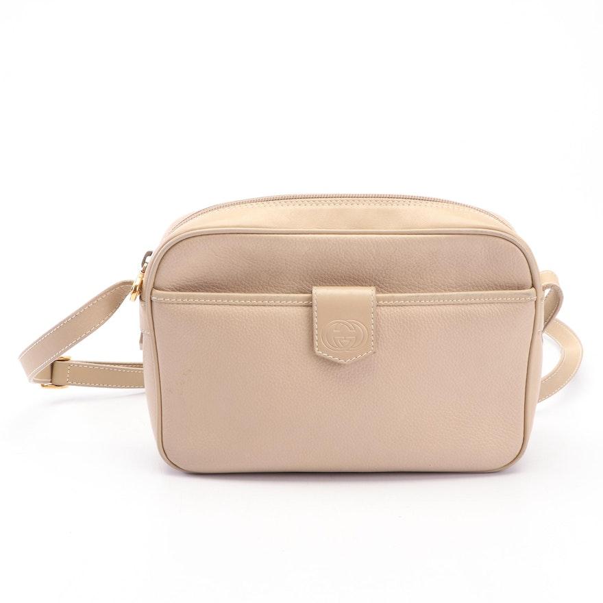 a47ae6578ea Gucci Beige Leather Crossbody Bag