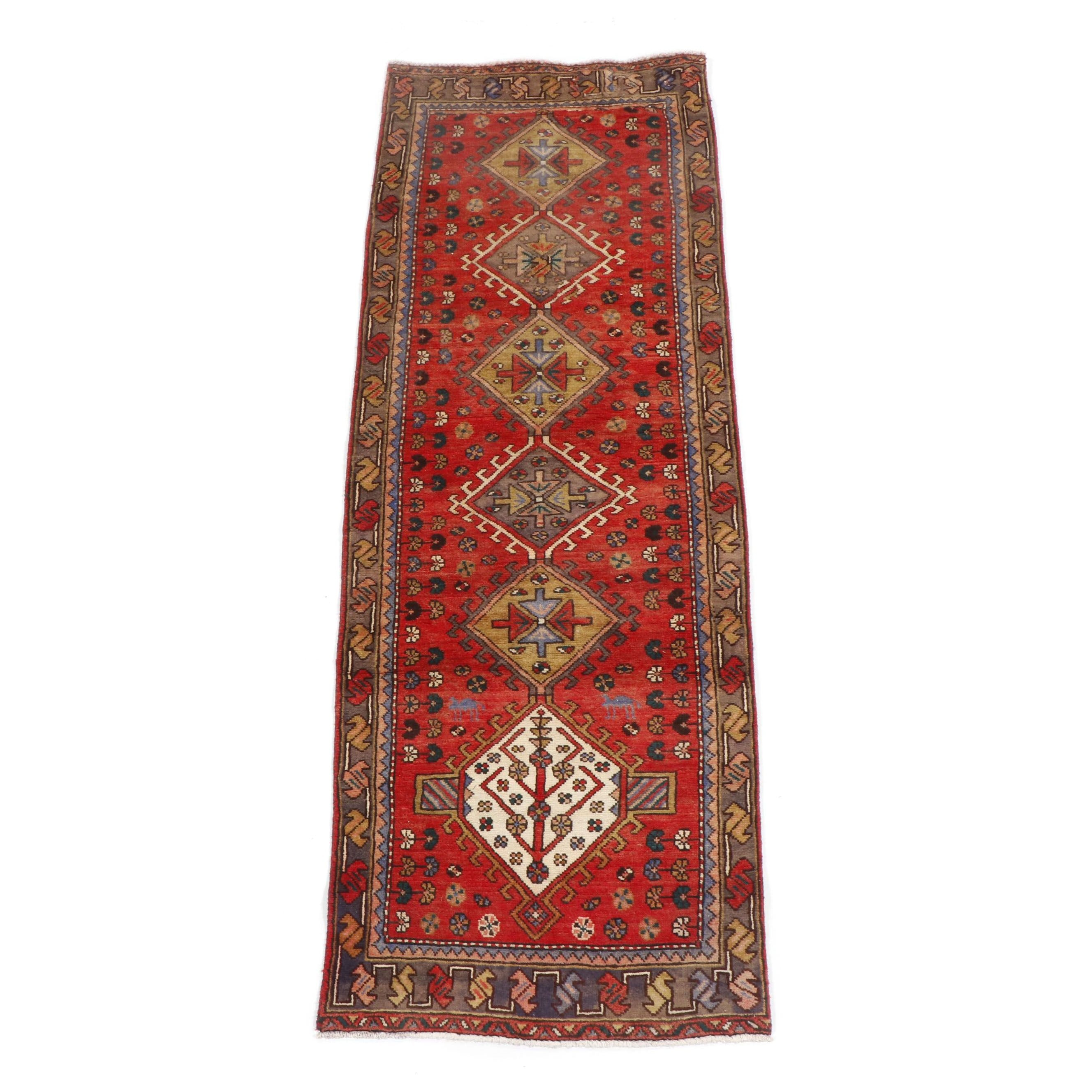 Hand-Knotted Eastern Anatolian Wool Long Rug