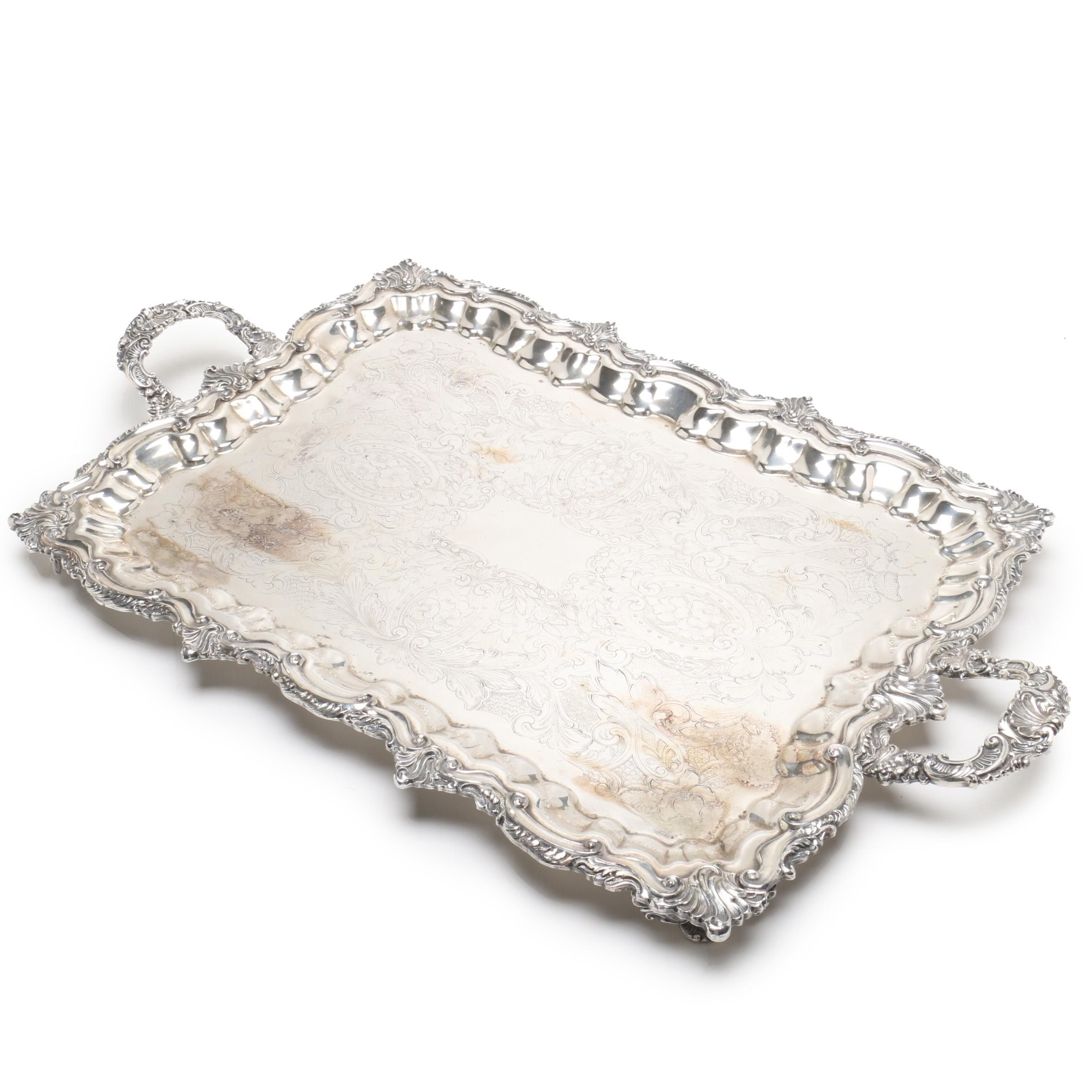 Silver Plate Coffee Tray