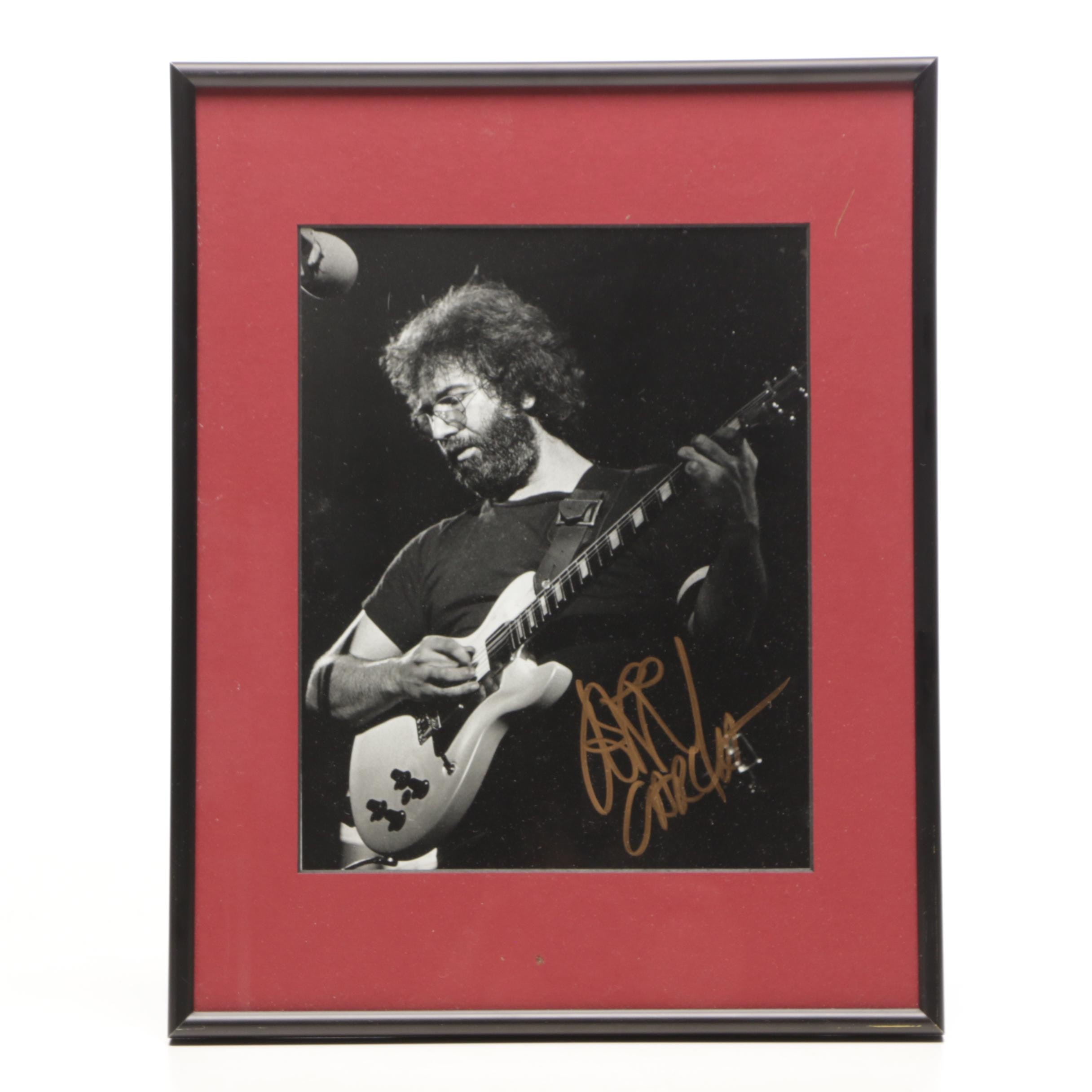 Jerry Garcia Signed Matted and Framed Photograph