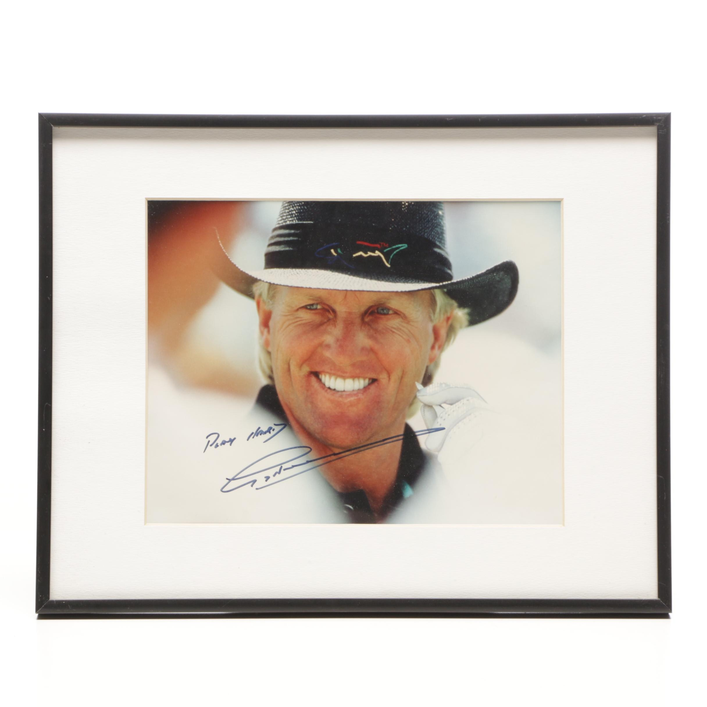 Greg Norman Signed Matted and Framed Photograph