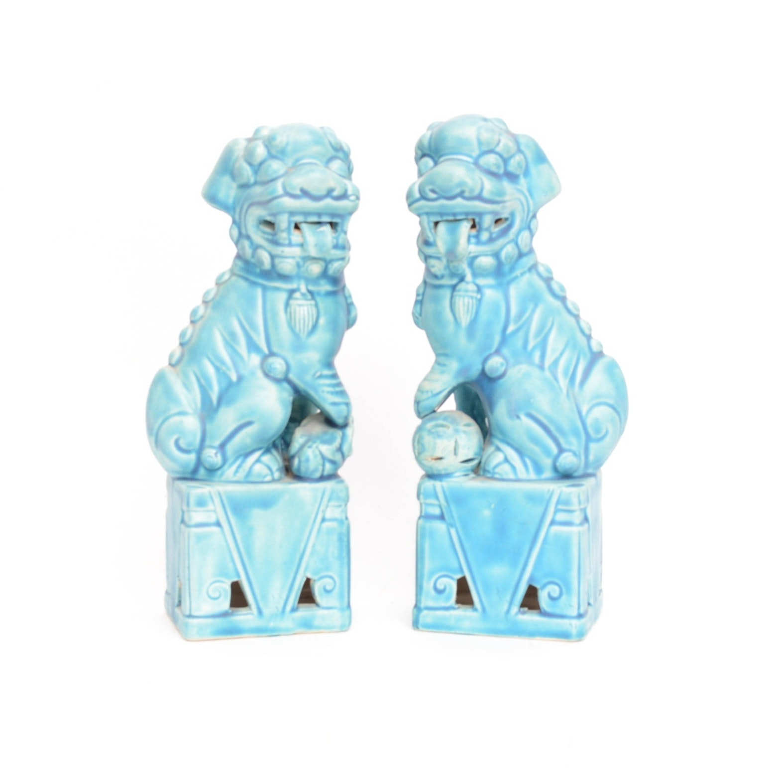 Chinese Style Ceramic Guardian Lions