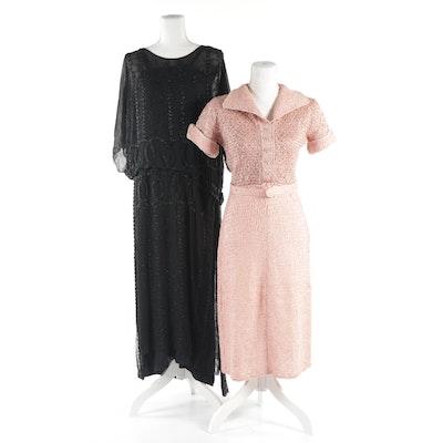 d1b403bdc83 Women s Coeur de Vague Black Velvet Button-Up Midi-Dress   EBTH