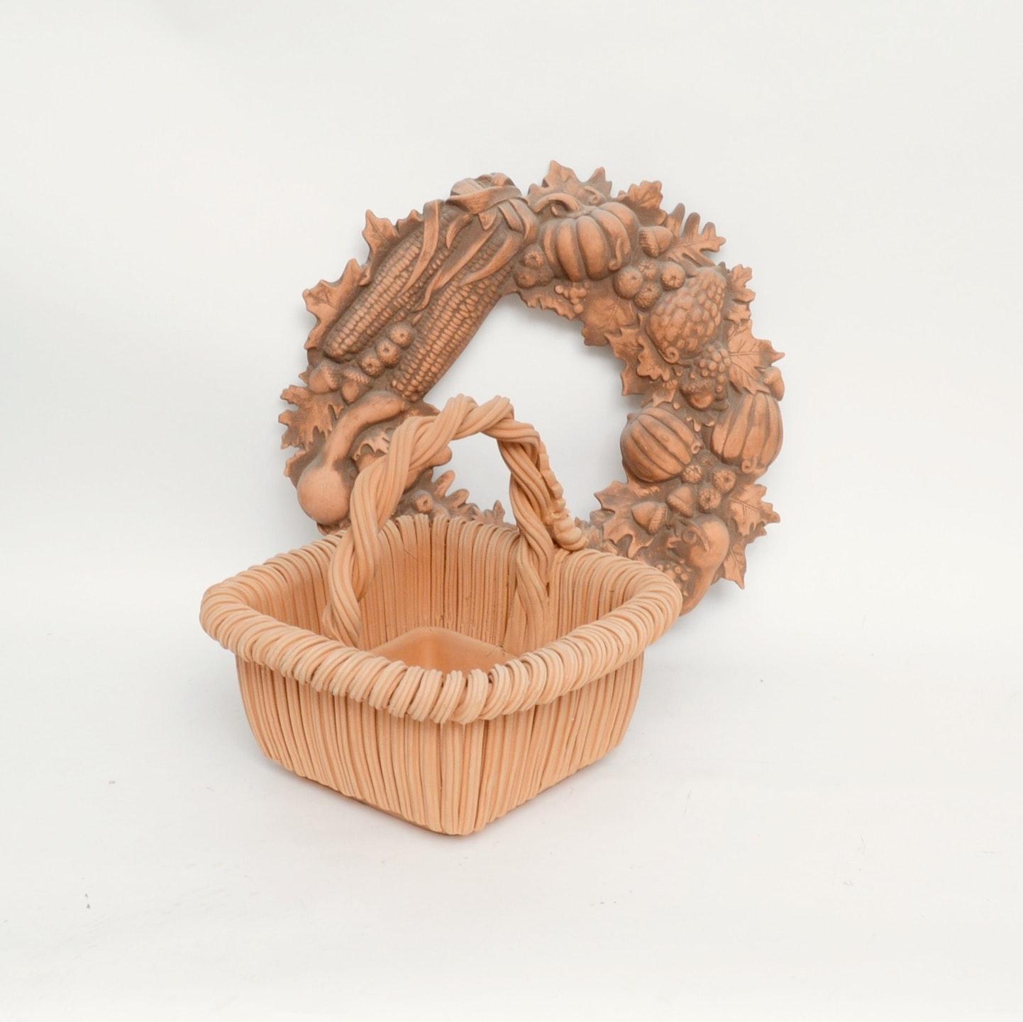 Terra Cotta Wreath and Basket