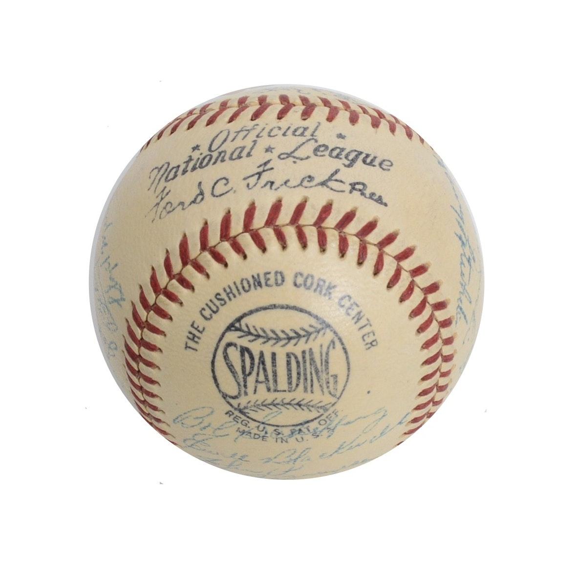 1951 Cincinnati Reds Team Autographed Baseball