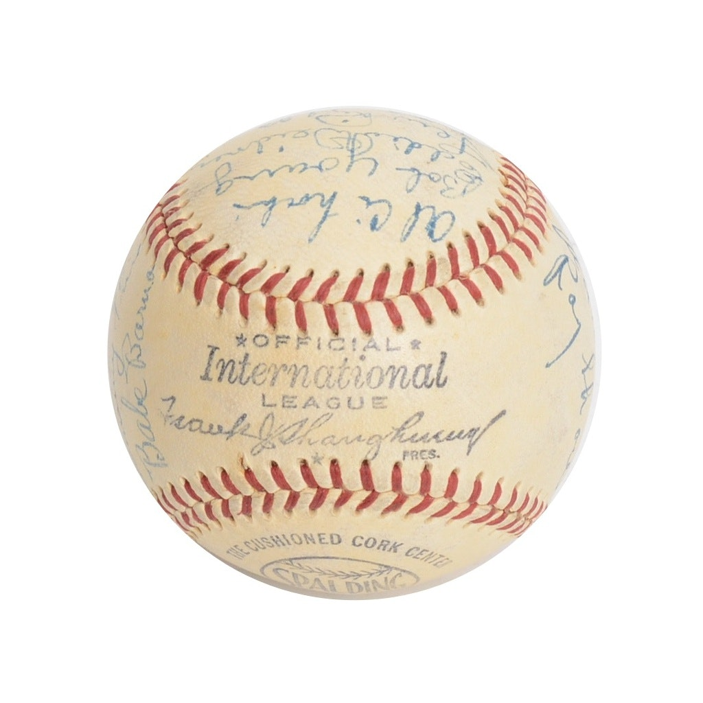 1950 Baltimore Orioles Team Autographed Baseball