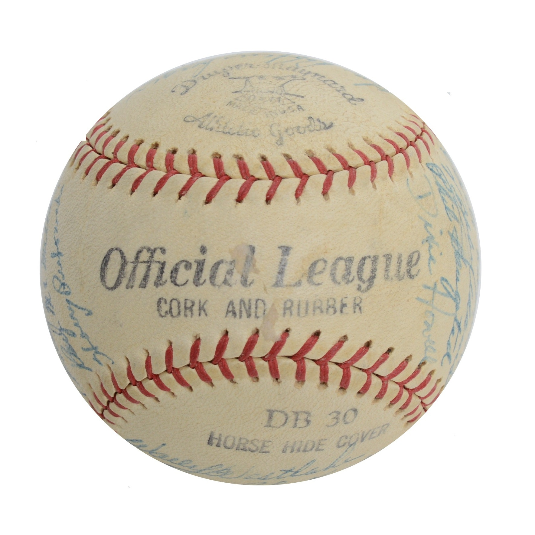 1952 Cincinnati Red Team Autographed Baseball