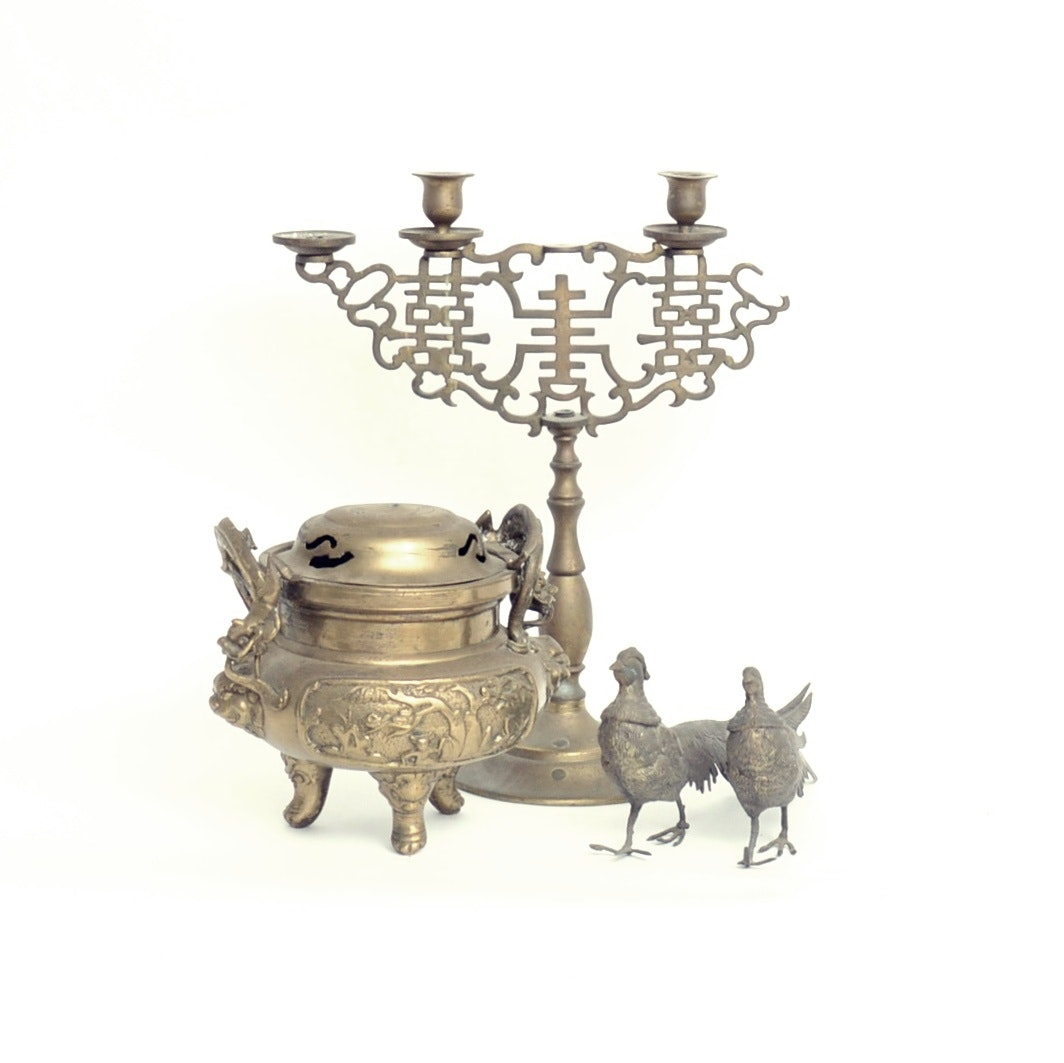 Grouping of Scrap Brass Items
