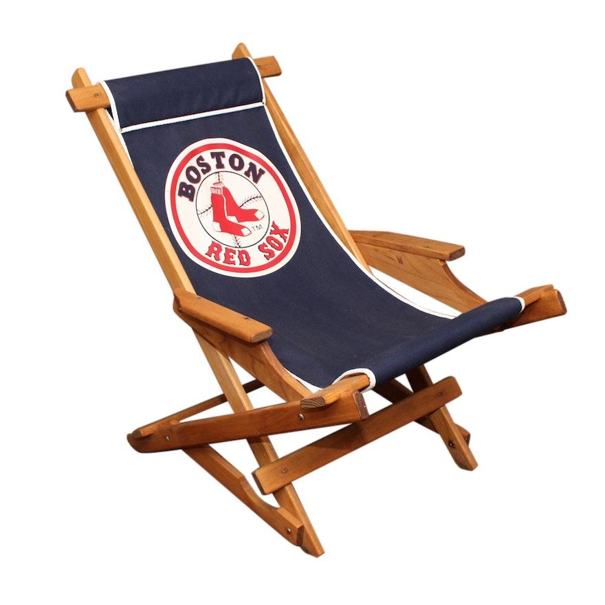 Boston Red Sox Folding Armchair Ebth