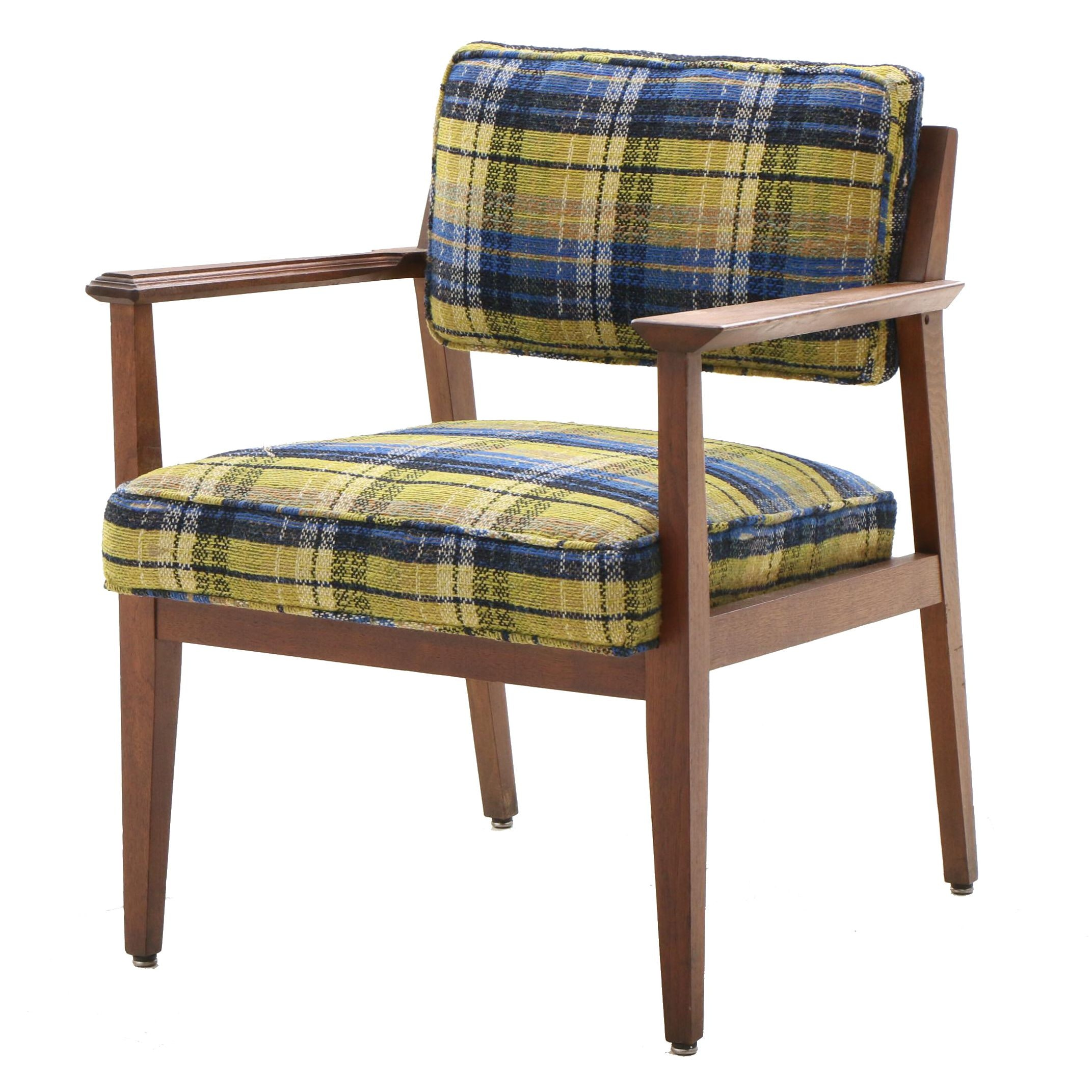 Mid Century Modern Walnut Armchair