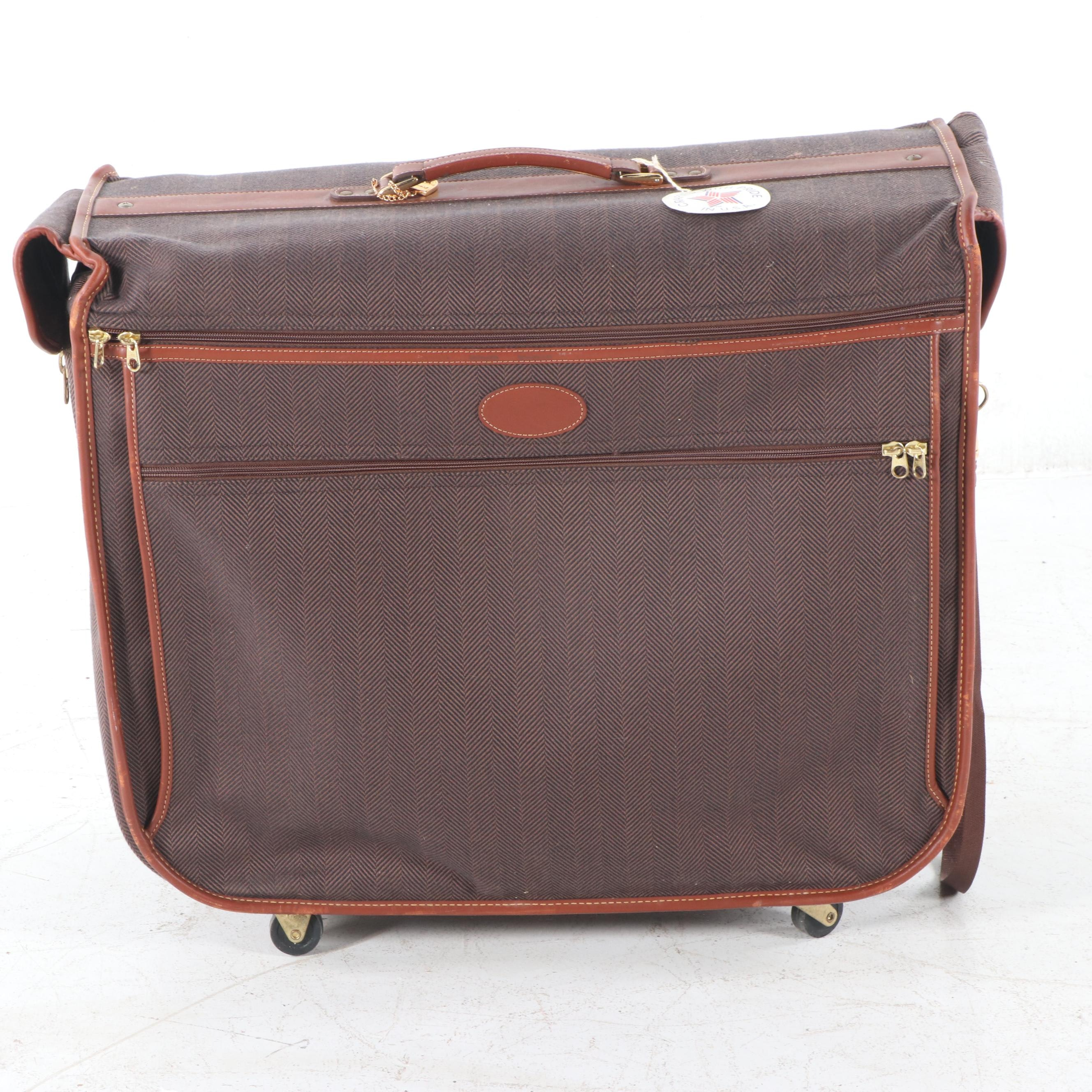 Herringbone Suitcase By French