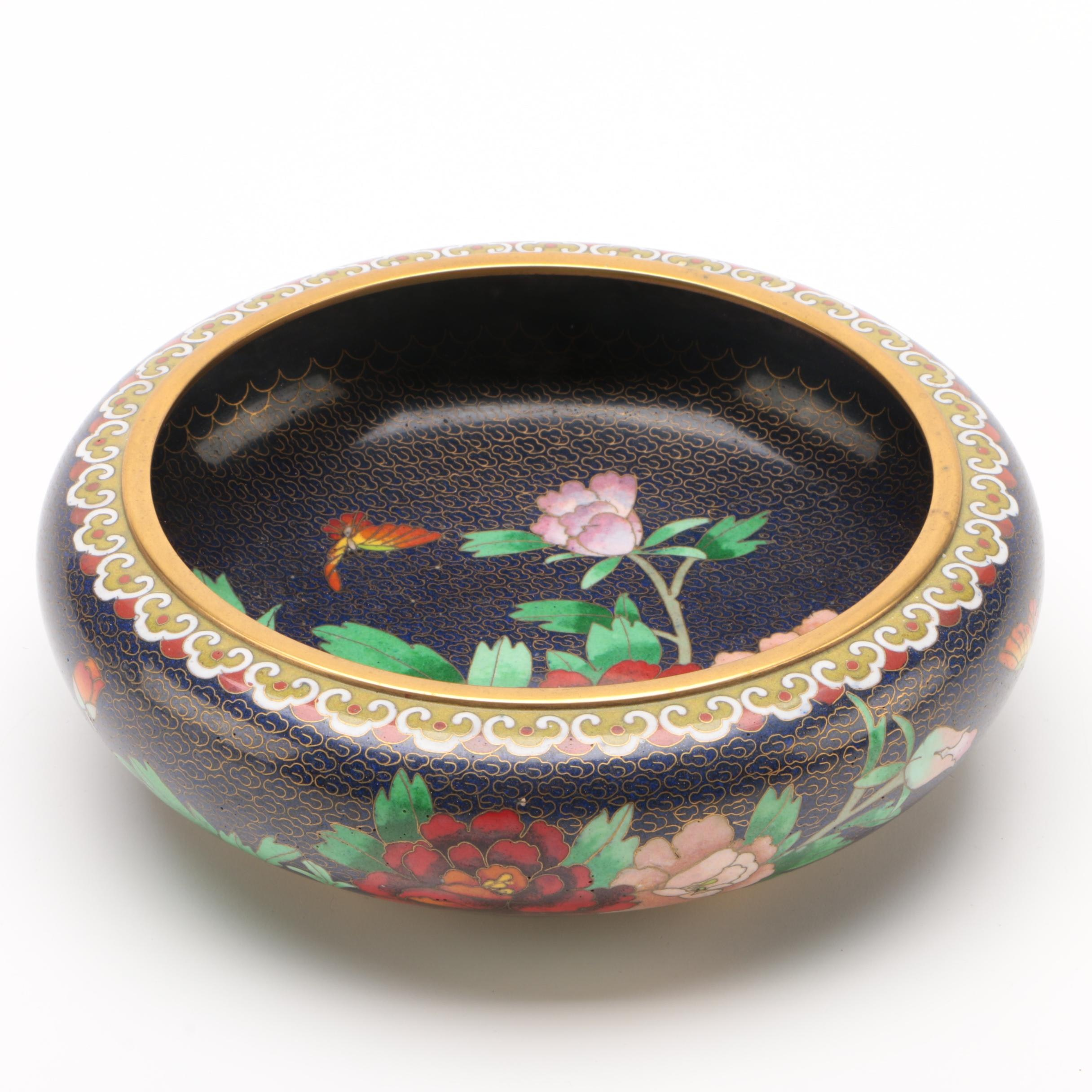 Chinese Cloissoné Brush Washer, Late 20th Century