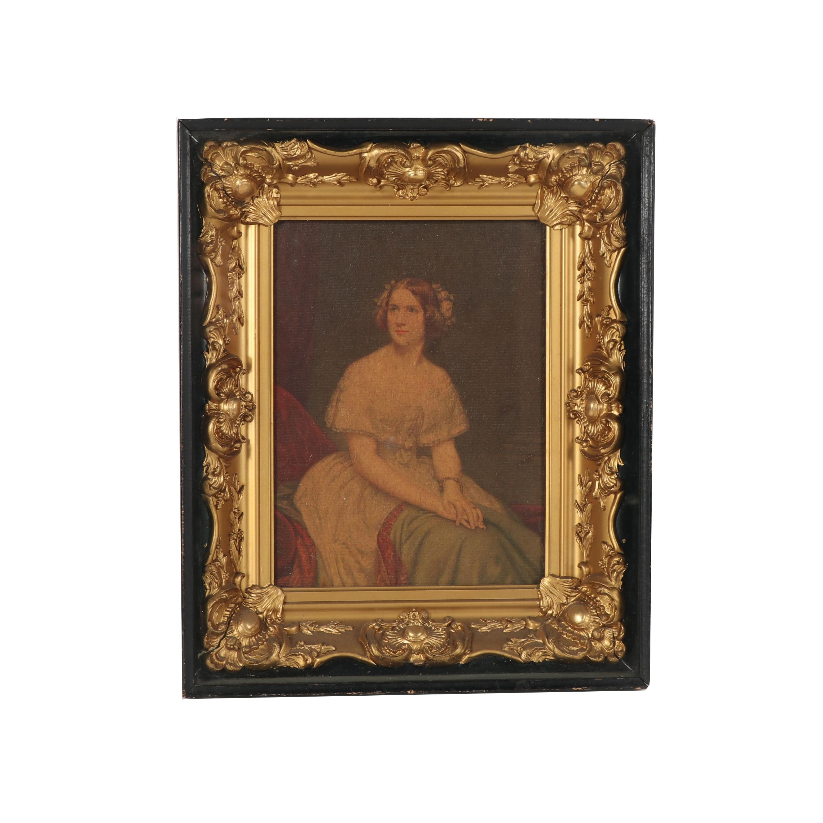 """Offset Lithograph after Eduard Magnus """"Jenny Lind"""" in 19th Century Frame"""