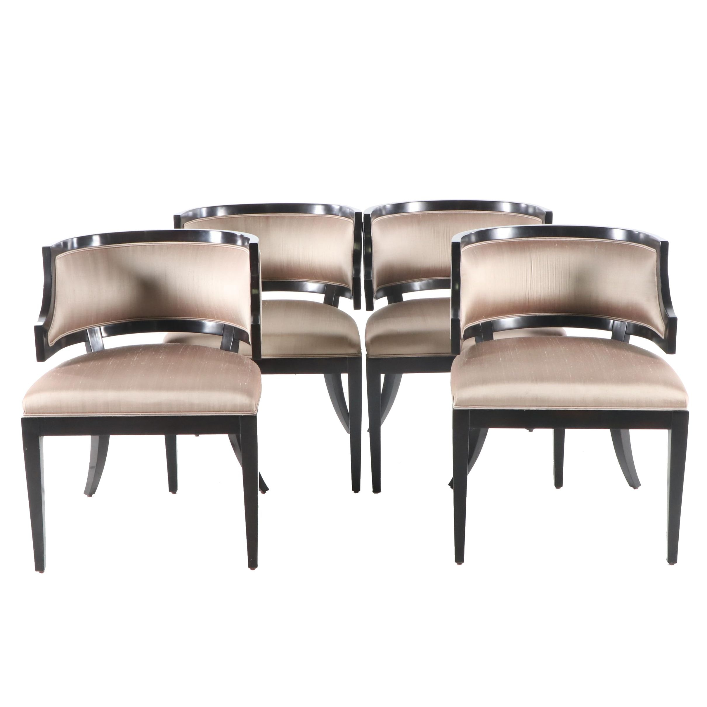 Contemporary Klismos Style Upholstered Chairs