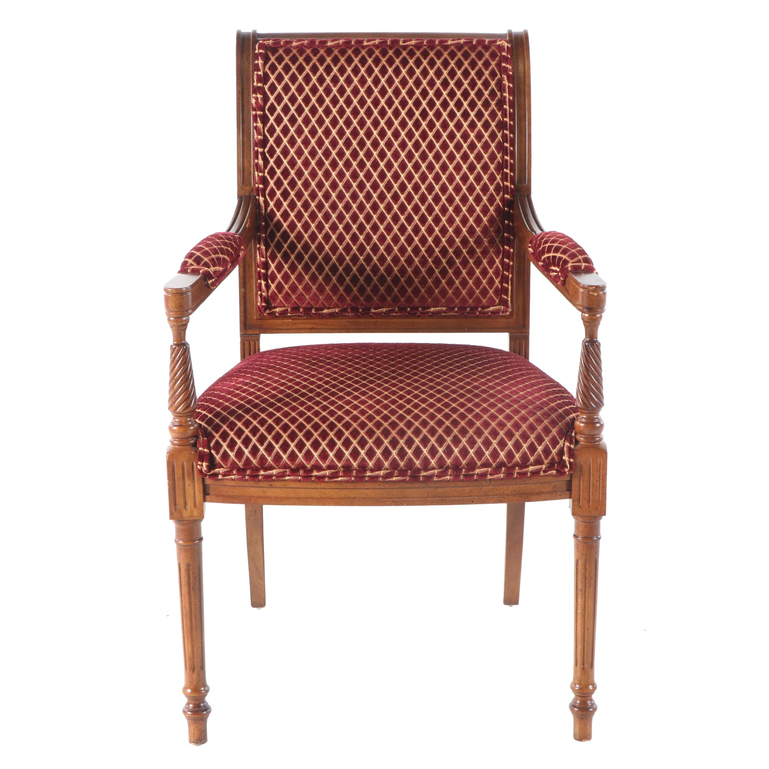 Regency Style Upholstered Armchair, 20th Century