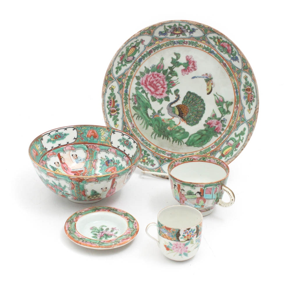"Chinese ""Rose Medallion"" and ""Rose Canton"" Ceramics"