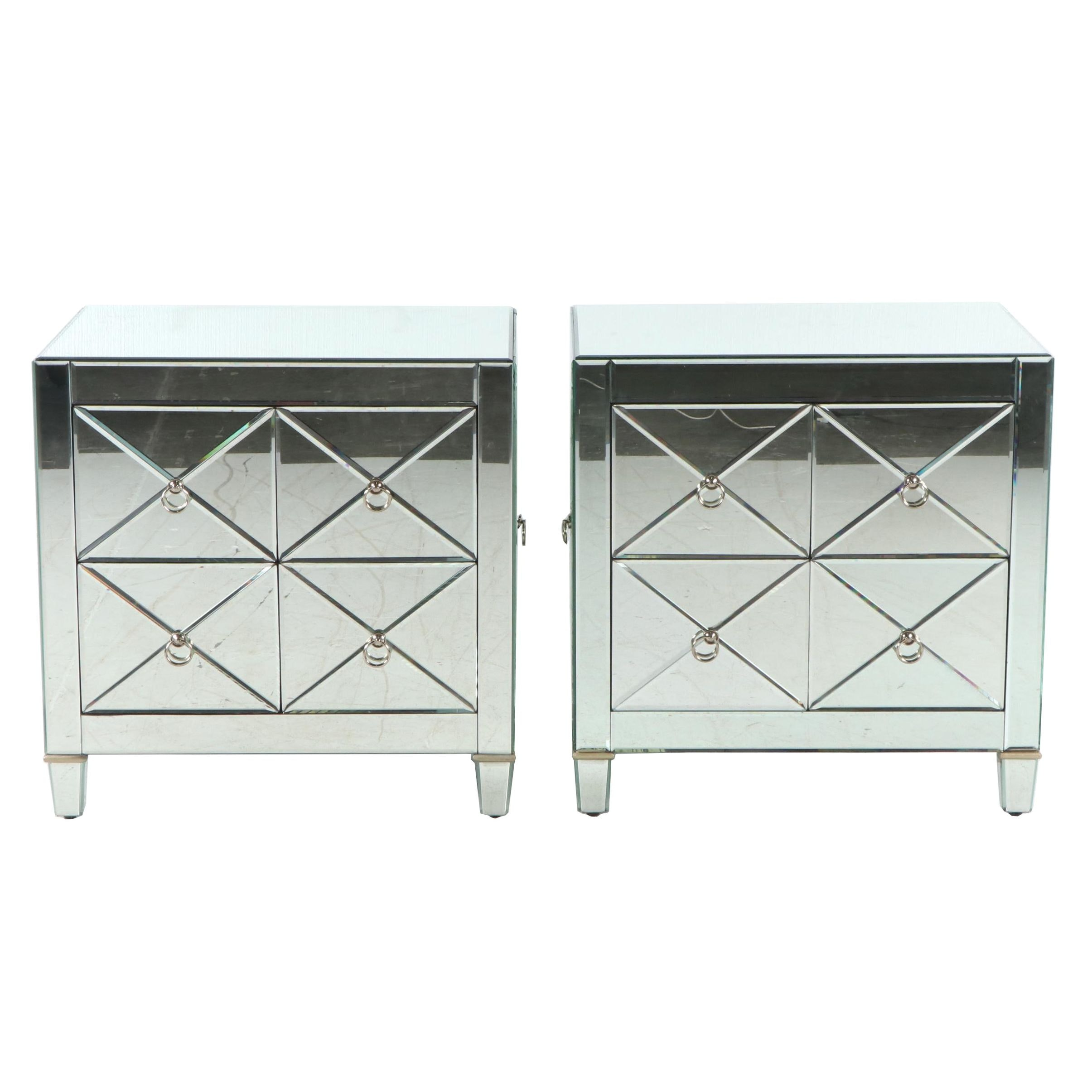 Mirrored Night Stands by Maitland Smith, 21st Century