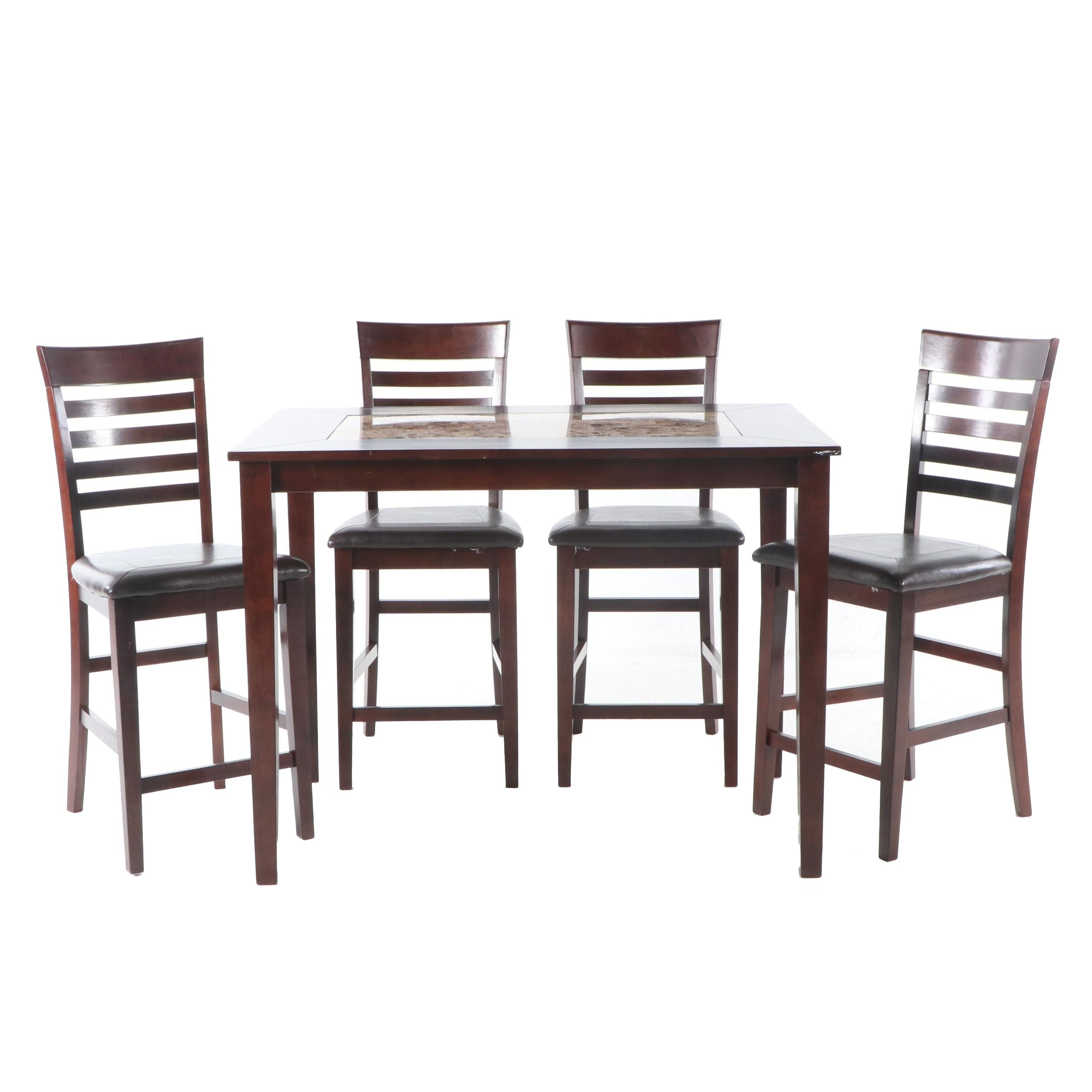 Contemporary Bar Height Dining Table and Chairs, 21st Century