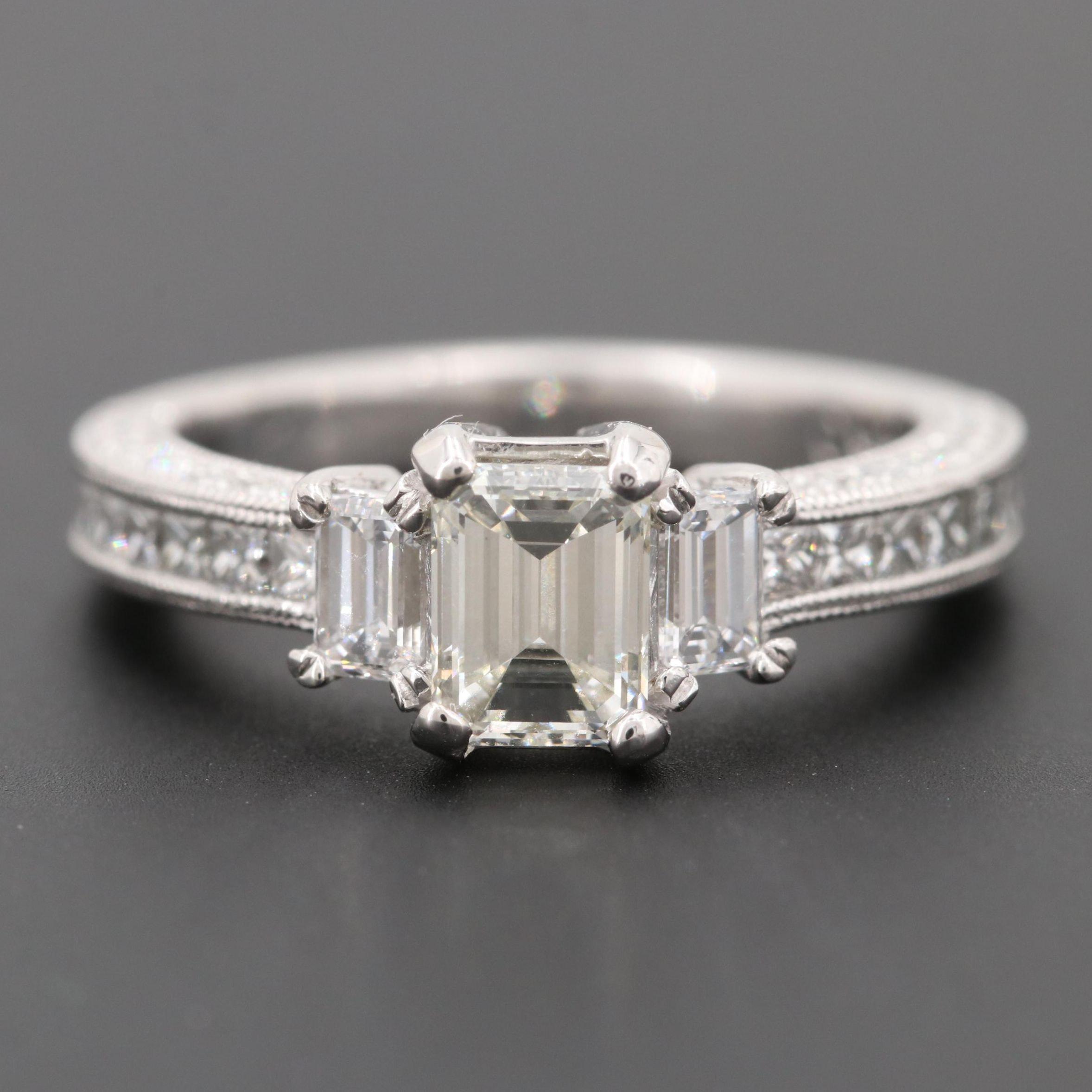 Platinum 1.85 CTW Diamond Ring