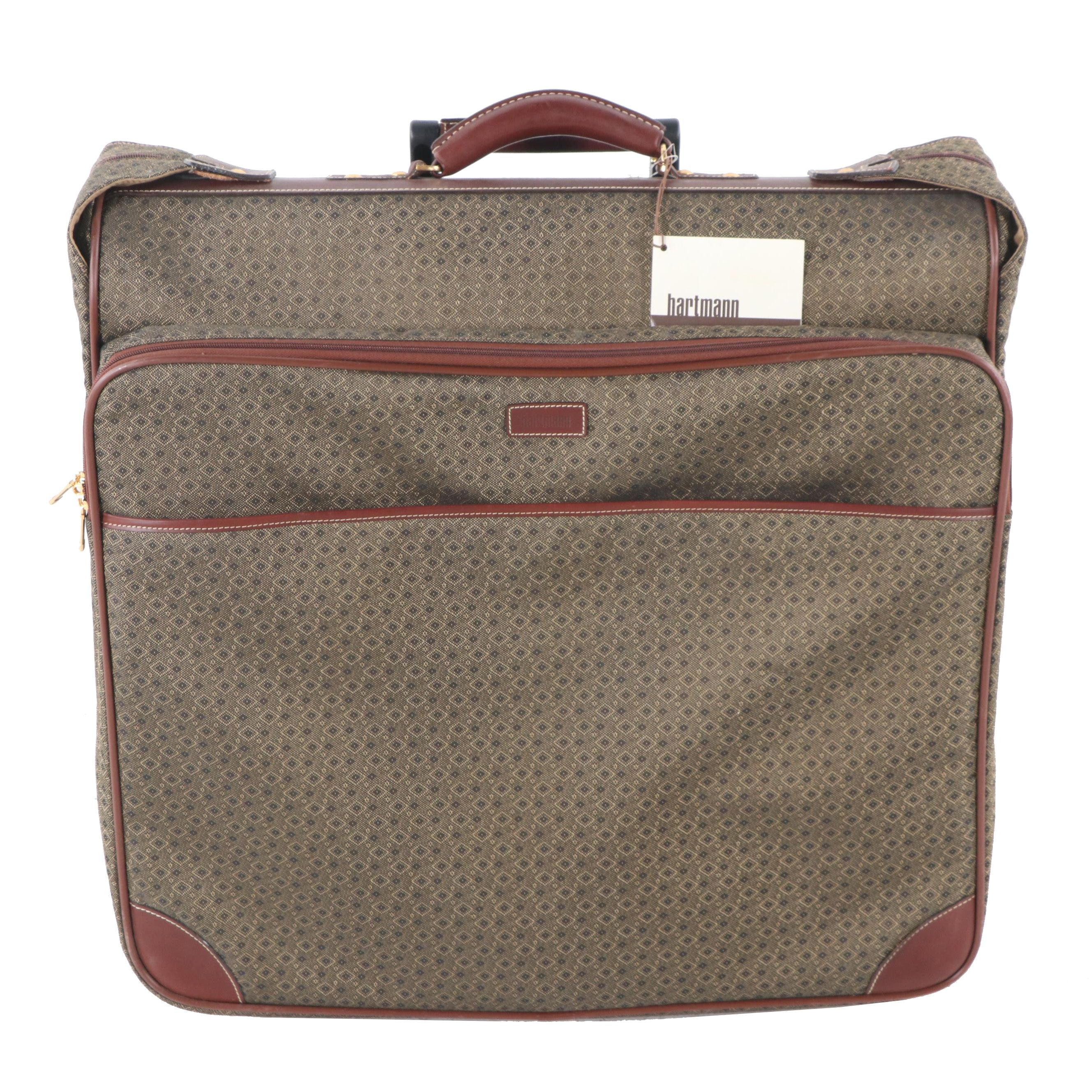 Hartmann Wings Collection Canvas and Leather Suitcase