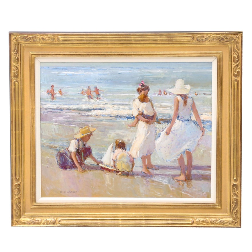 "William Steve Seltzer Oil Painting ""Sea Breeze"""