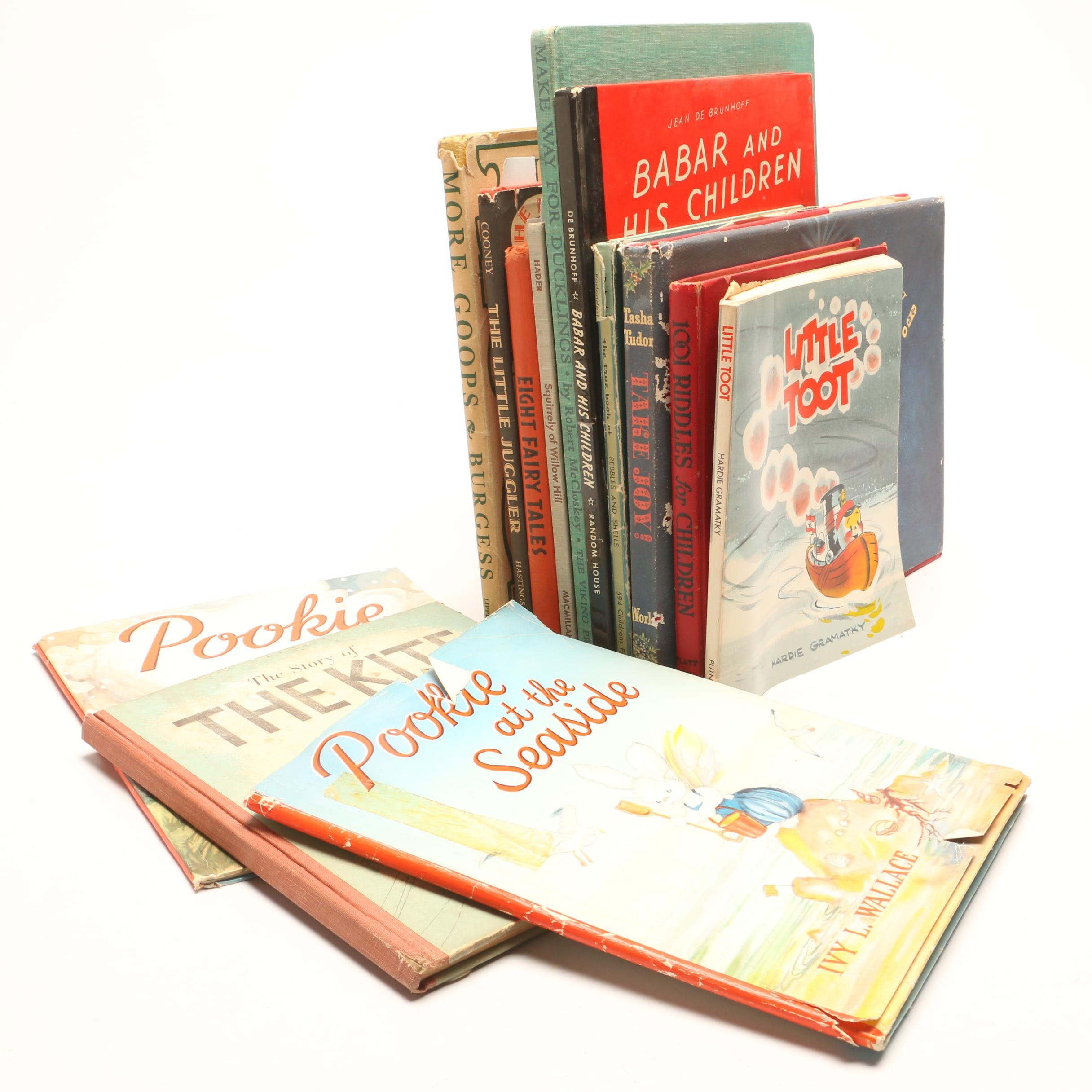 """Vintage Children's Books featuring """"The Little Juggler"""" and """"Eight Fairy Tales"""""""