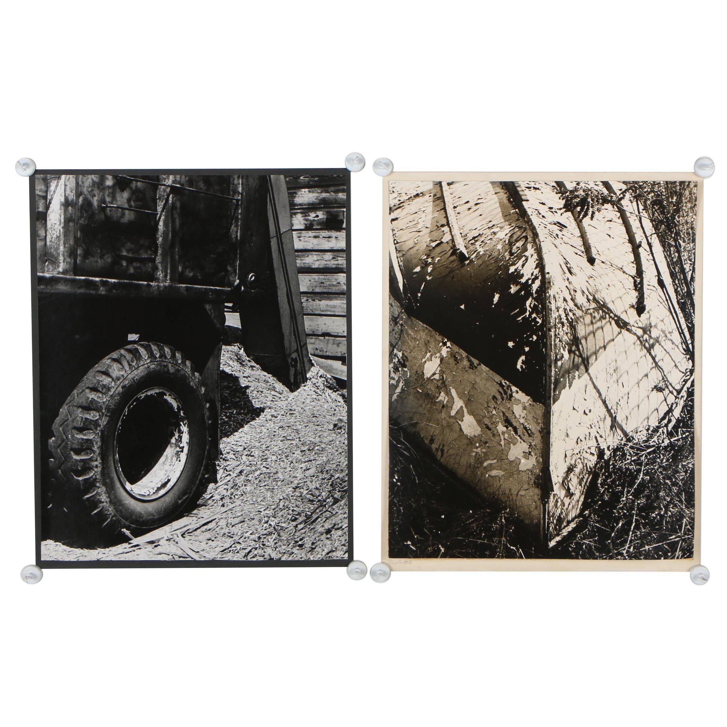 "Warren Geib Silver Gelatins Photographs ""Neglected"" and ""Truck Detail"""