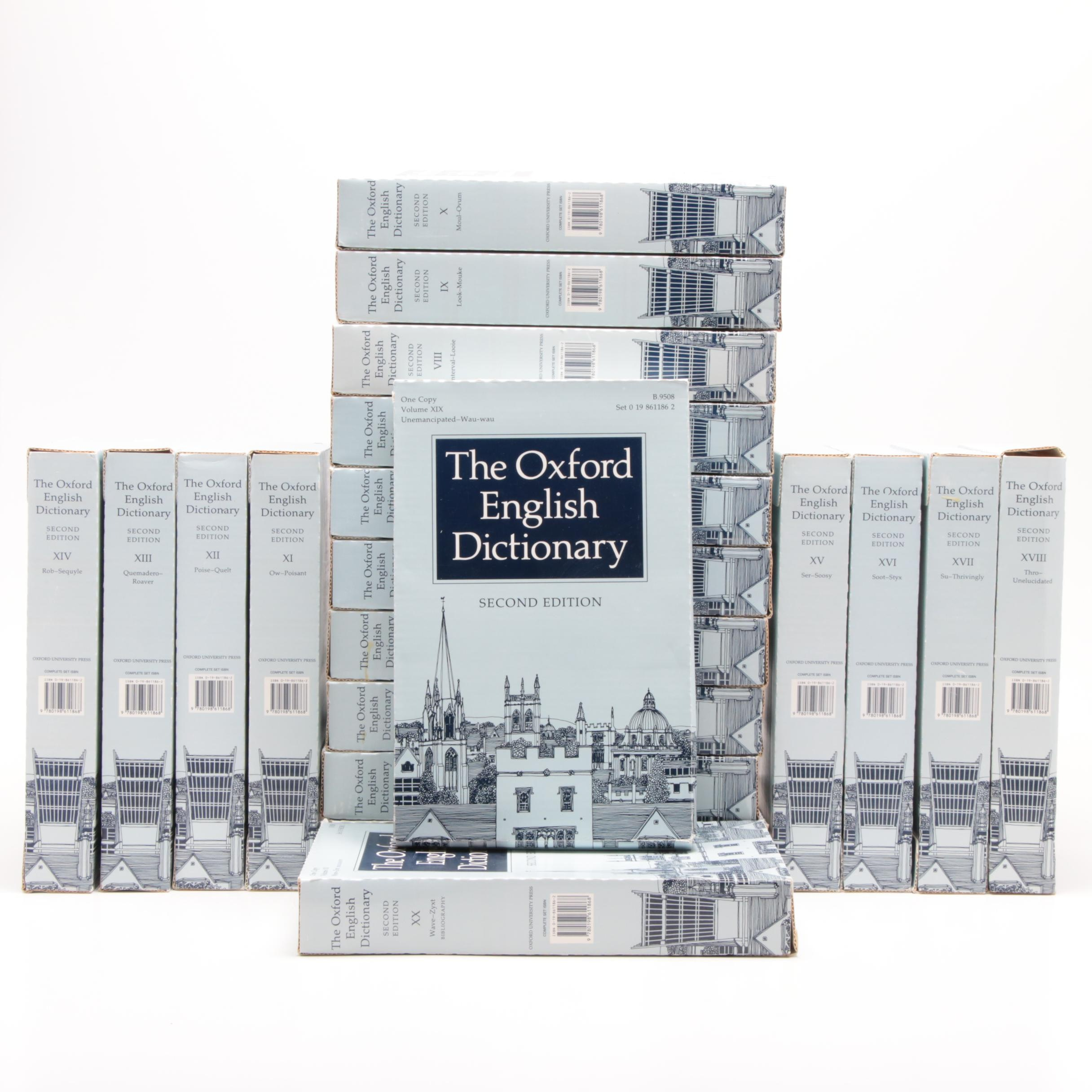 """The Oxford English Dictionary"" 20 Volume Set"
