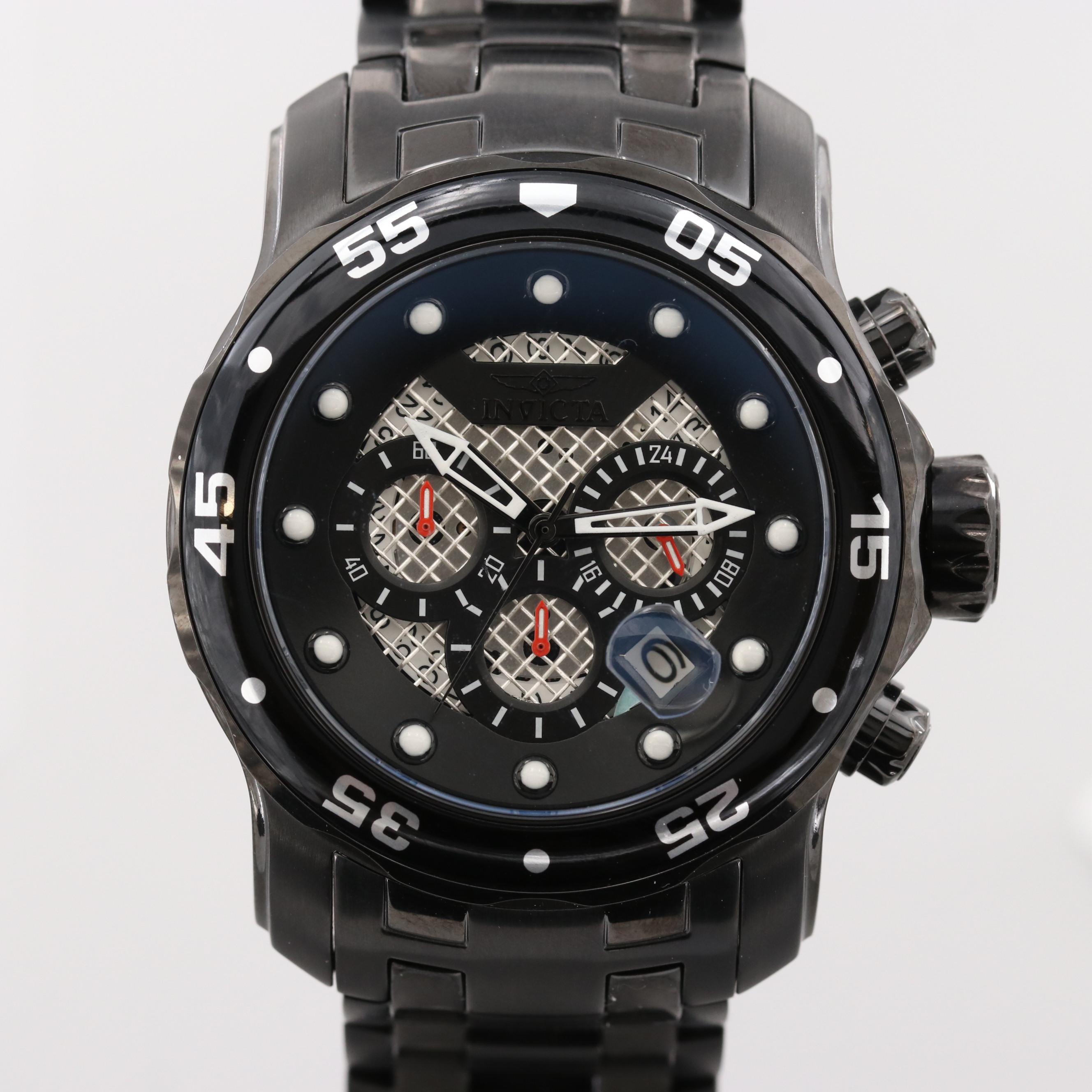 Invicta Pro Diver Stainless Steel Chronograph Quartz Wristwatch